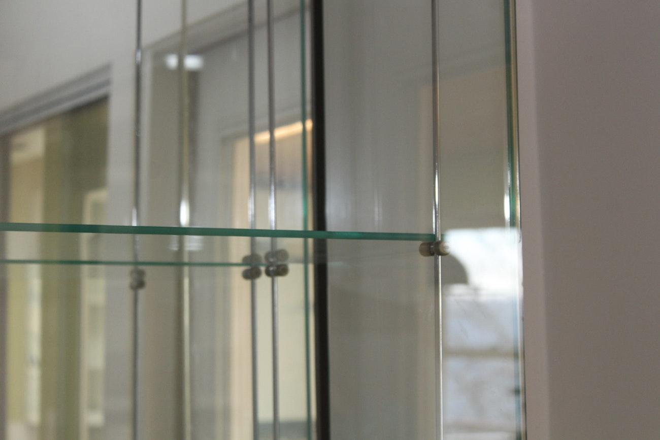 Contemporary Illuminated Glass Cabinet