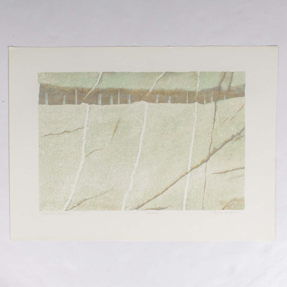 """Donald Roberts Serigraph """"Supported Fissure"""""""