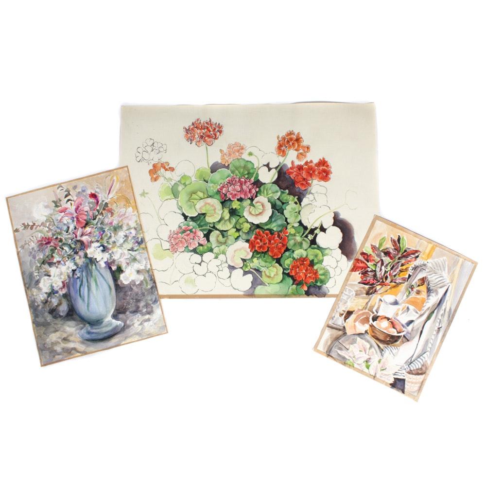 June Carver Roberts Still Life Watercolors
