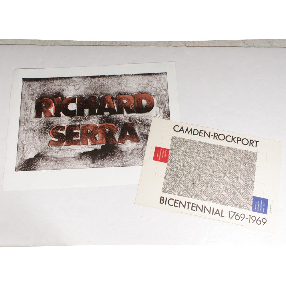 Vintage Donald Roberts Exhibition Advertisements