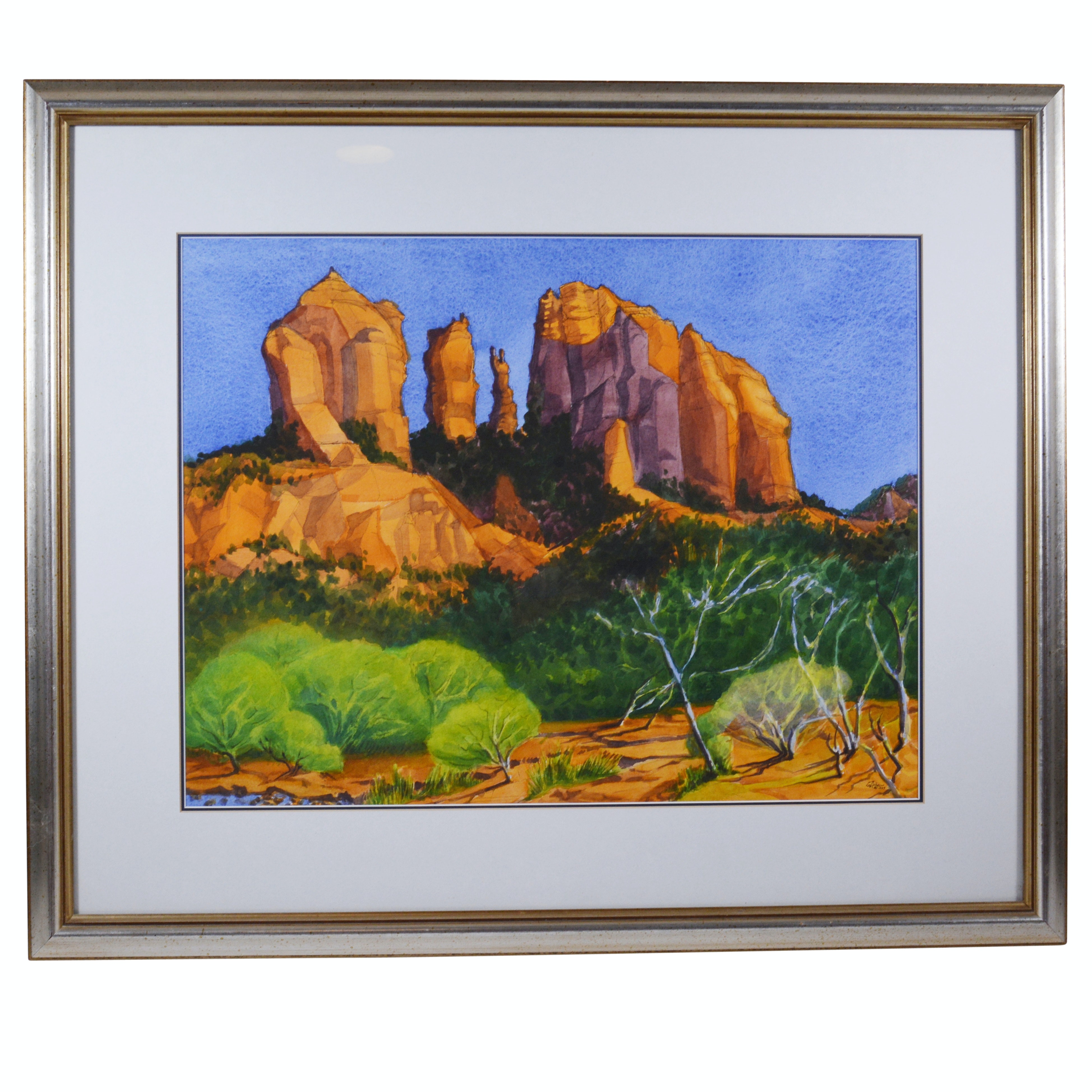 Askew Watercolor of Cathedral Rock in Sedona