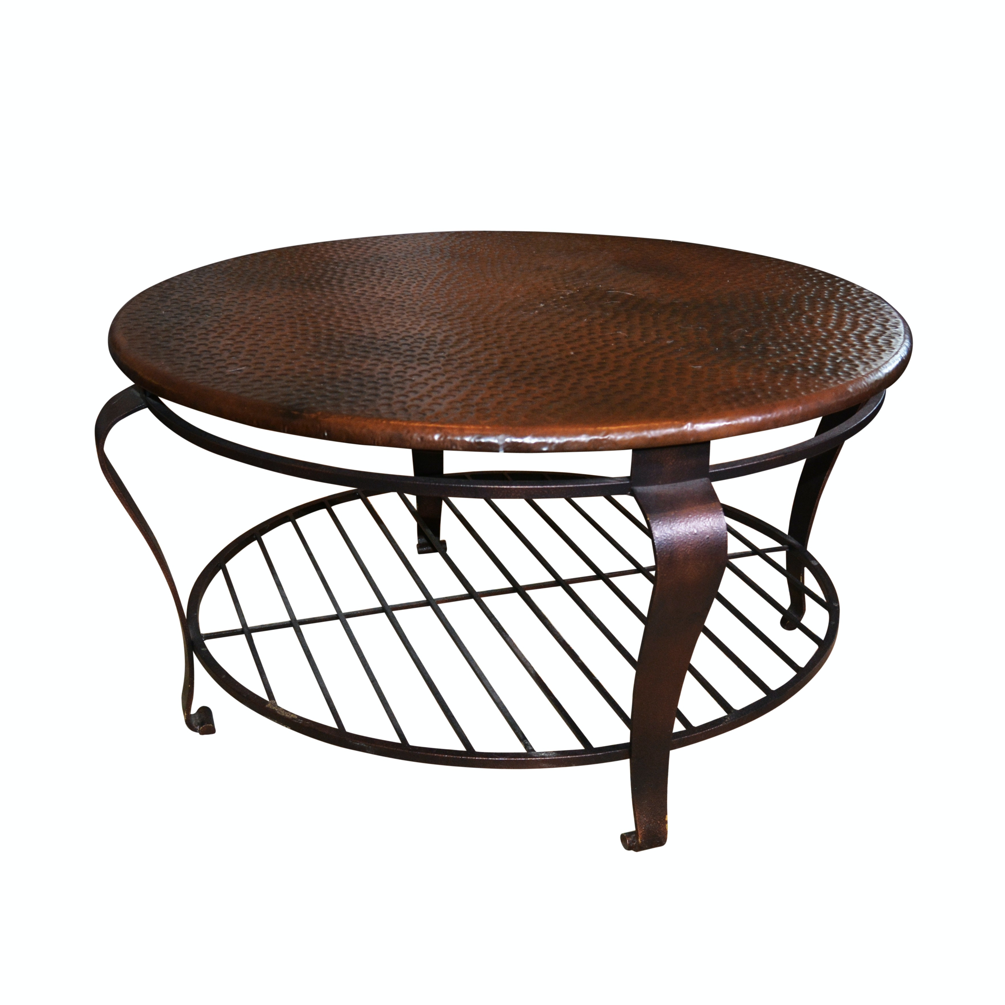 "Bernhardt ""Clark"" Copper Round Cocktail Table"