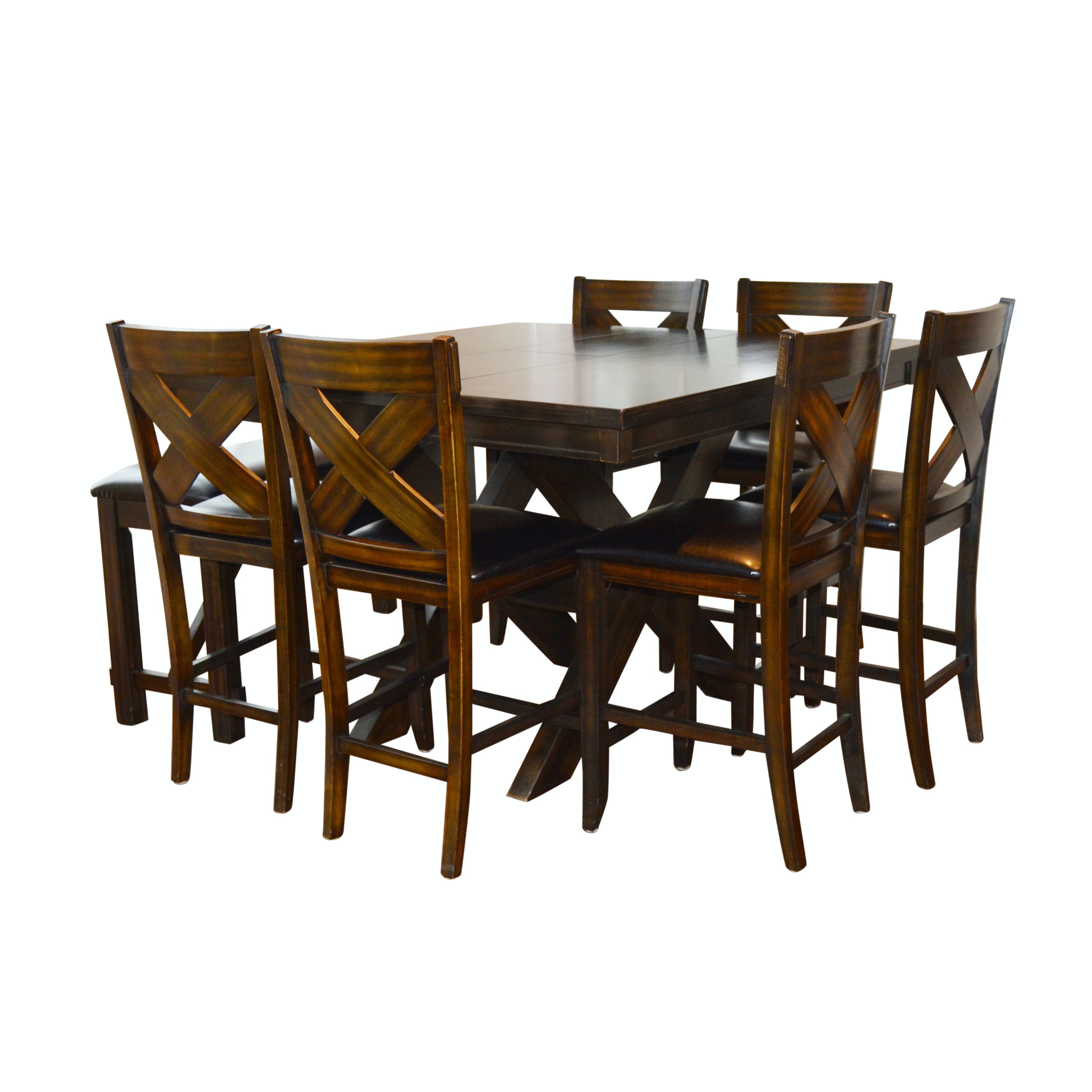 Contemporary High Table with Chairs and Bench