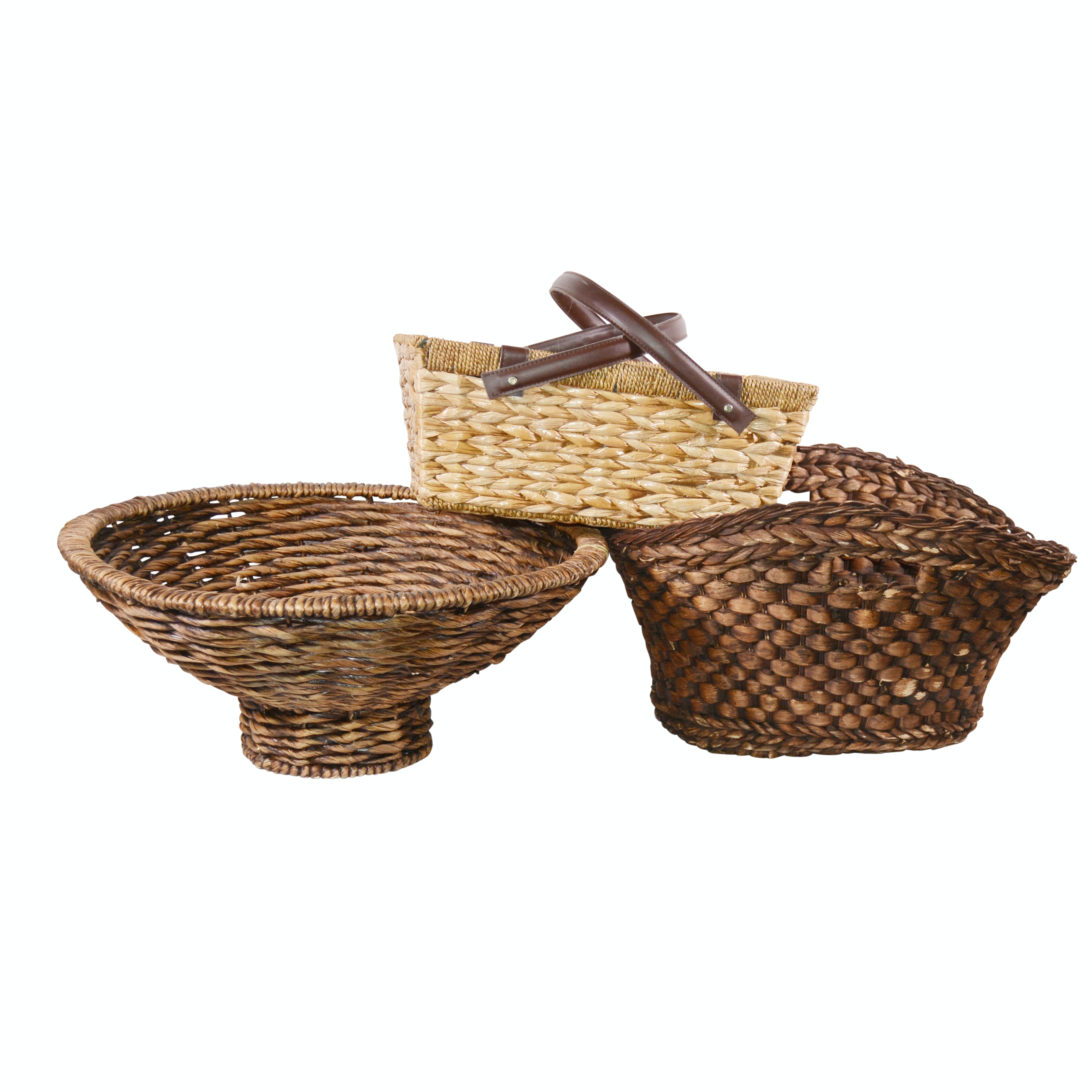 Woven Grass and Wicker Baskets