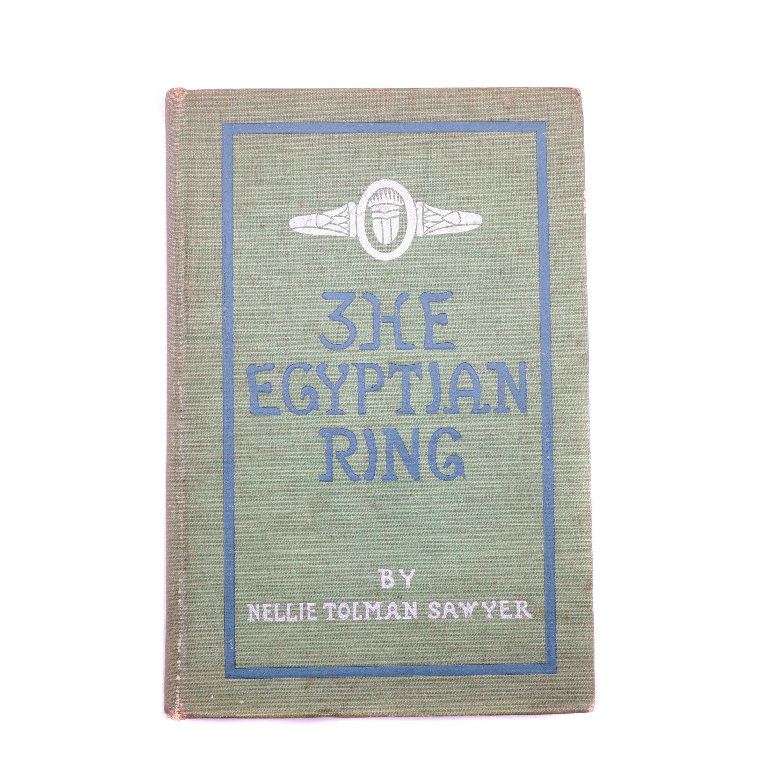 "1901 Signed First Edition ""The Egyptian Ring"" by Nellie T. Sawyer"