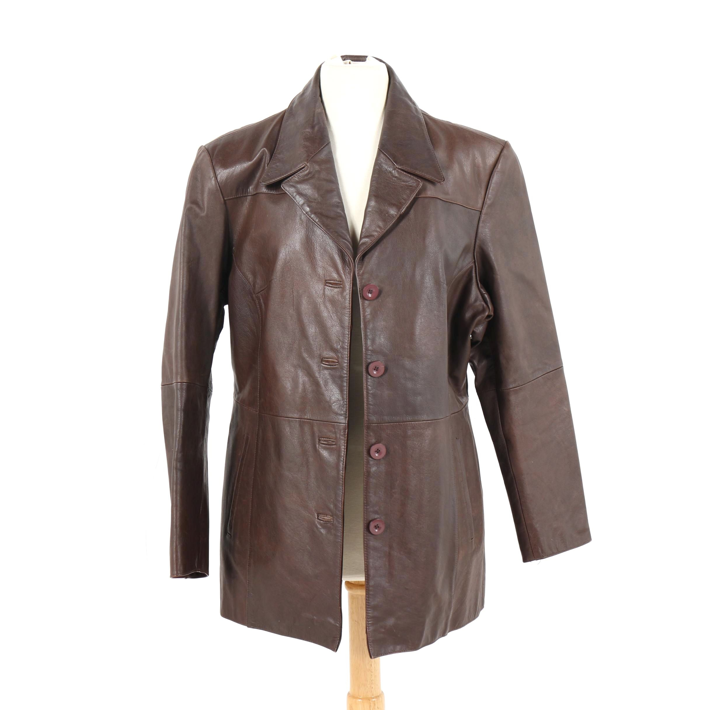 Women's Wilson Leather Brown Leather Coat