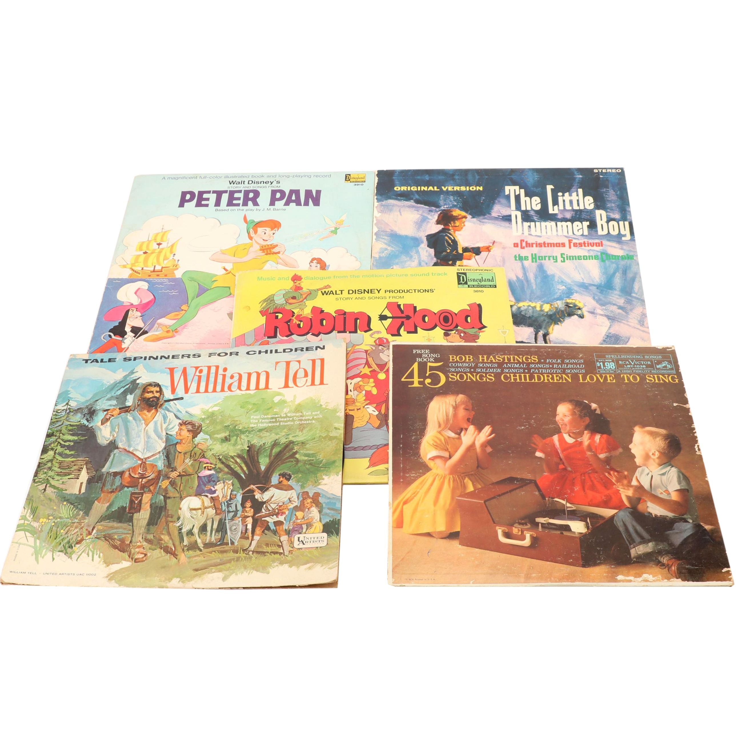 """Children's Record Albums Including Songs from """"Peter Pan"""""""
