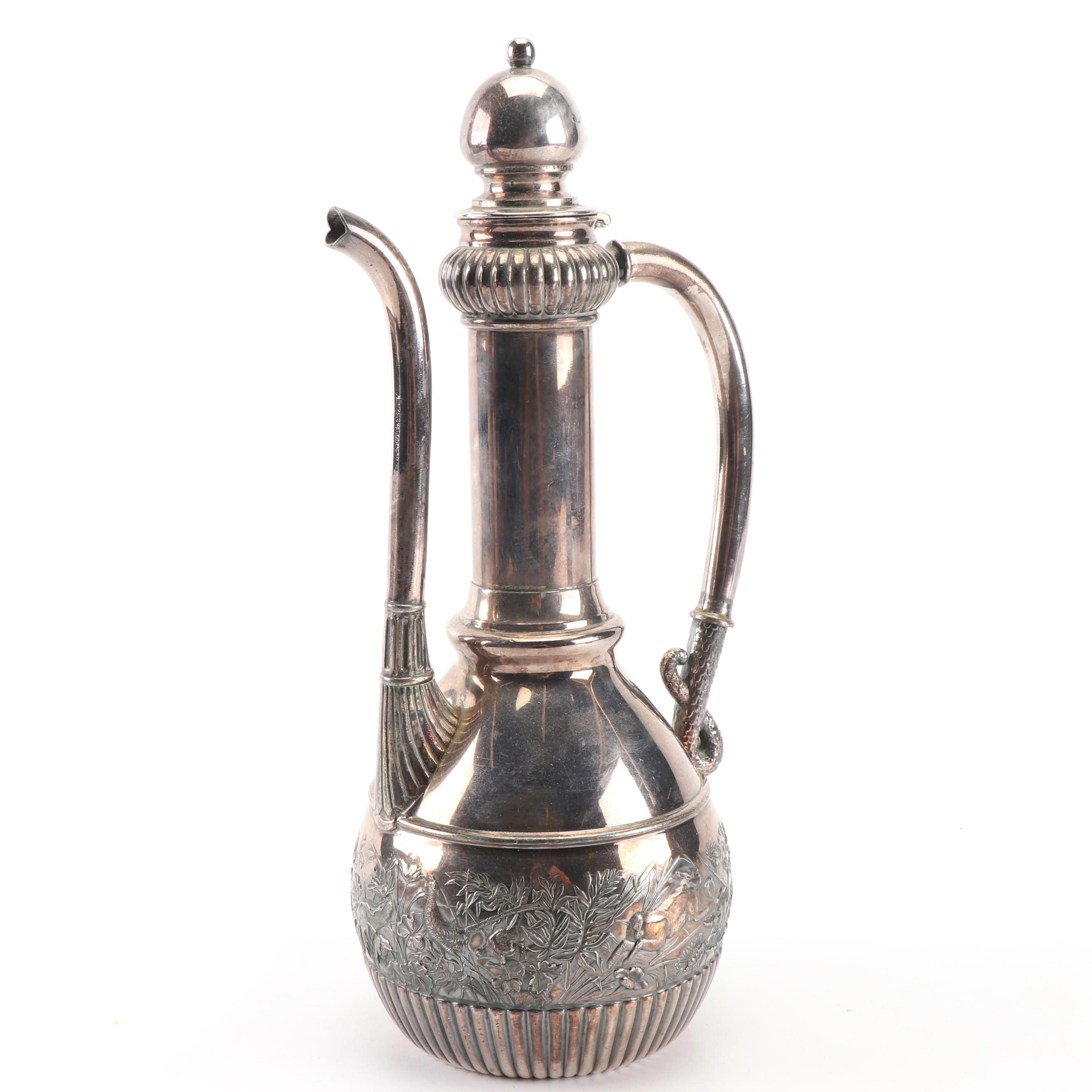 Wilcox Silver Plate Co. Aesthetic Movement Coffee Pot, Late 19th Century