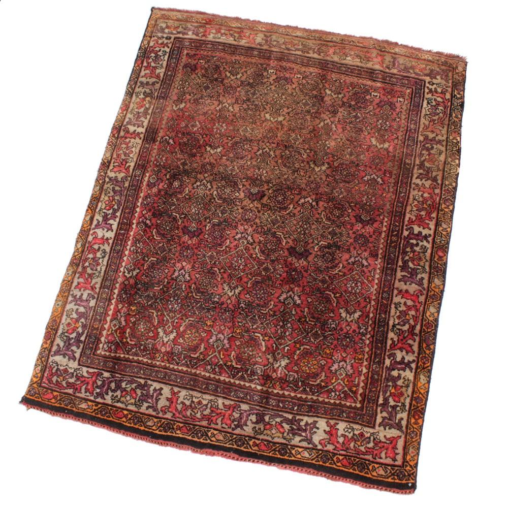 Hand-Knotted Persian Bijar Rug, circa 1910