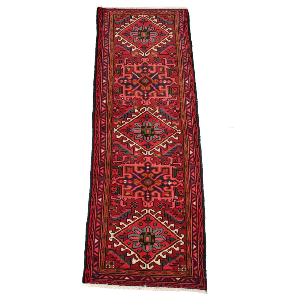 Hand-Knotted Persian Karaja Heriz Carpet Runner
