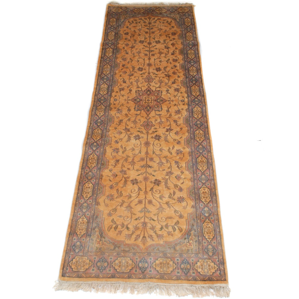 Hand-Knotted Indo-Persian Tabriz Carpet Runner