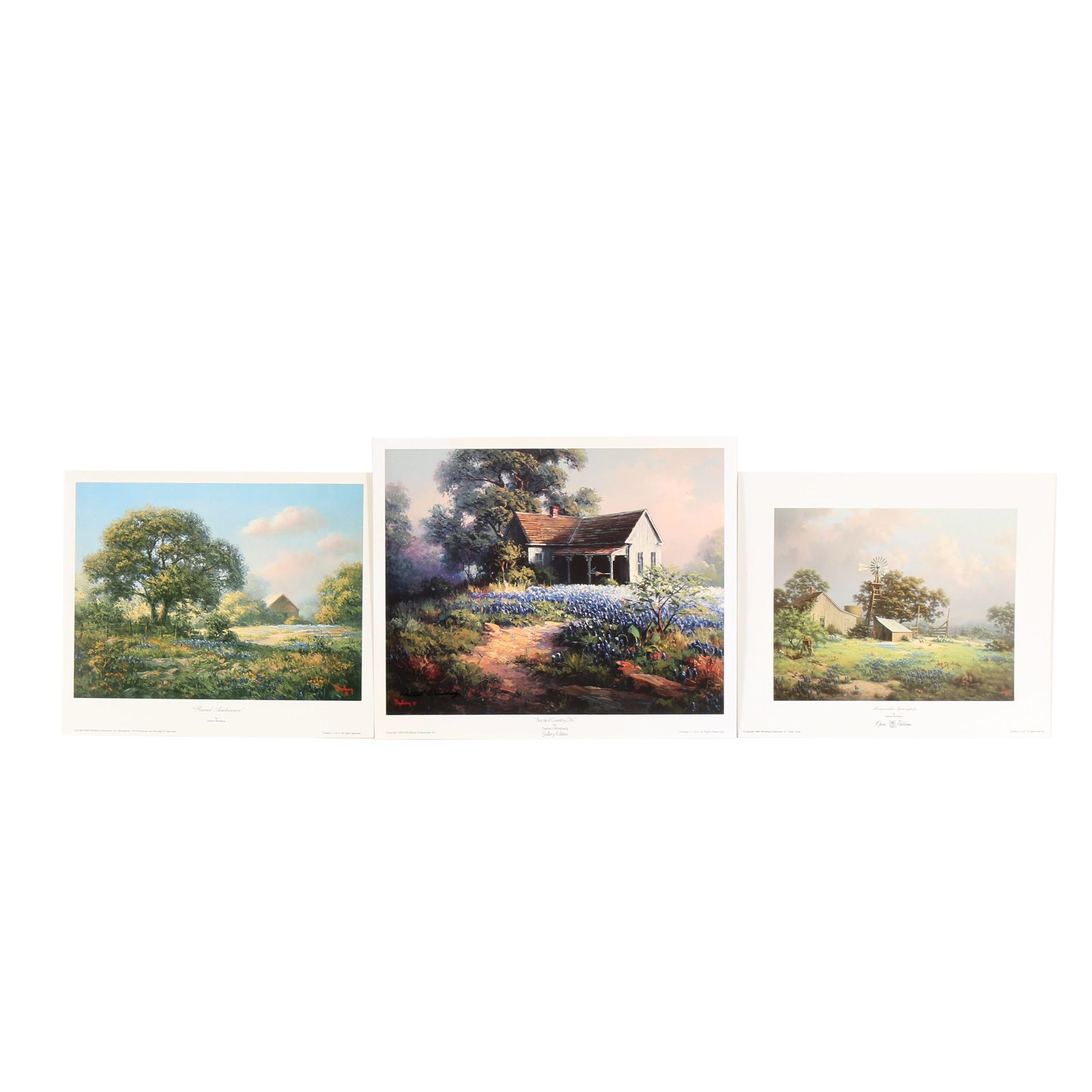 """Dalhart Windberg Offset Lithographs Including """"Scented Country Air"""""""
