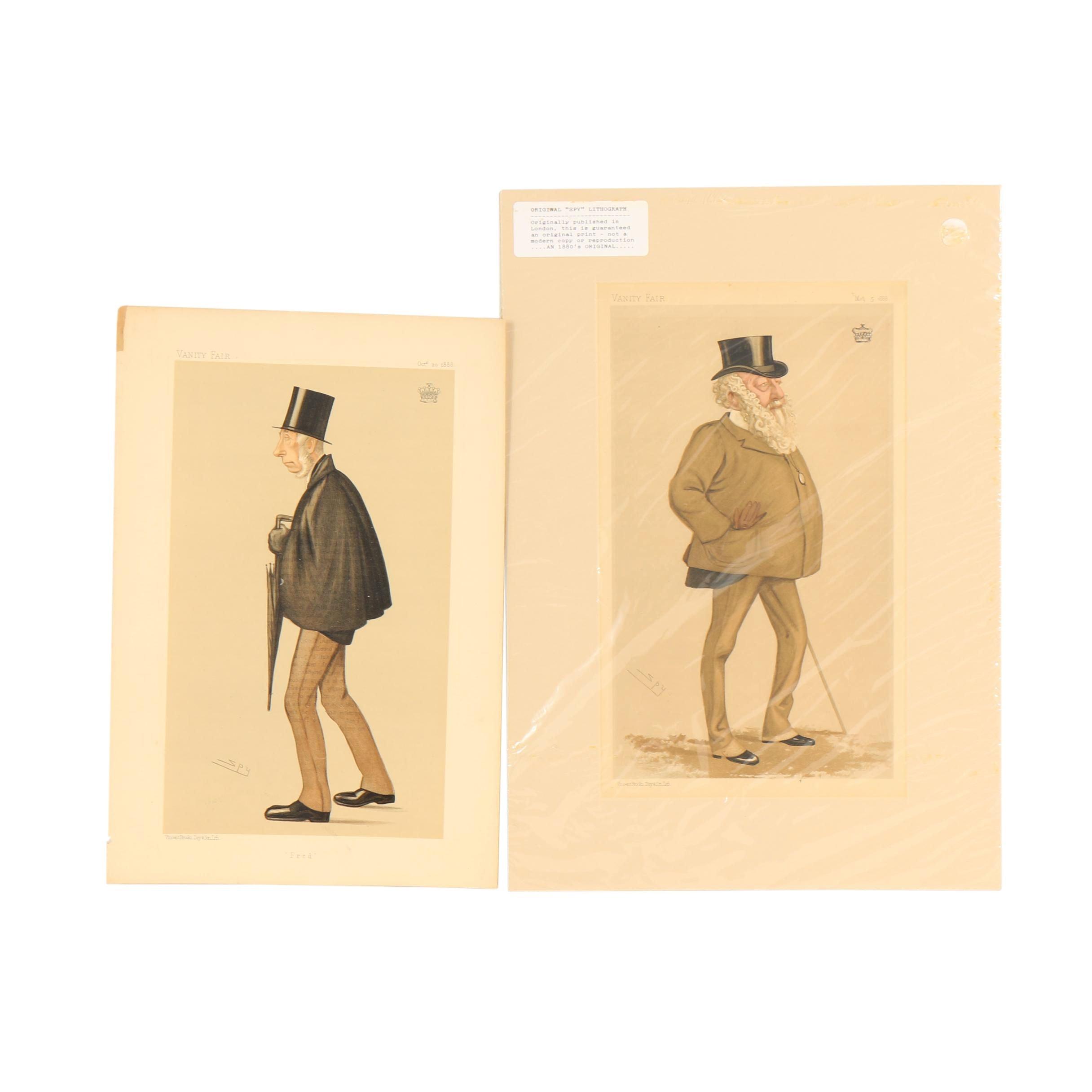 "Vanity Fair Lithographs after Leslie Ward ""Spy"""