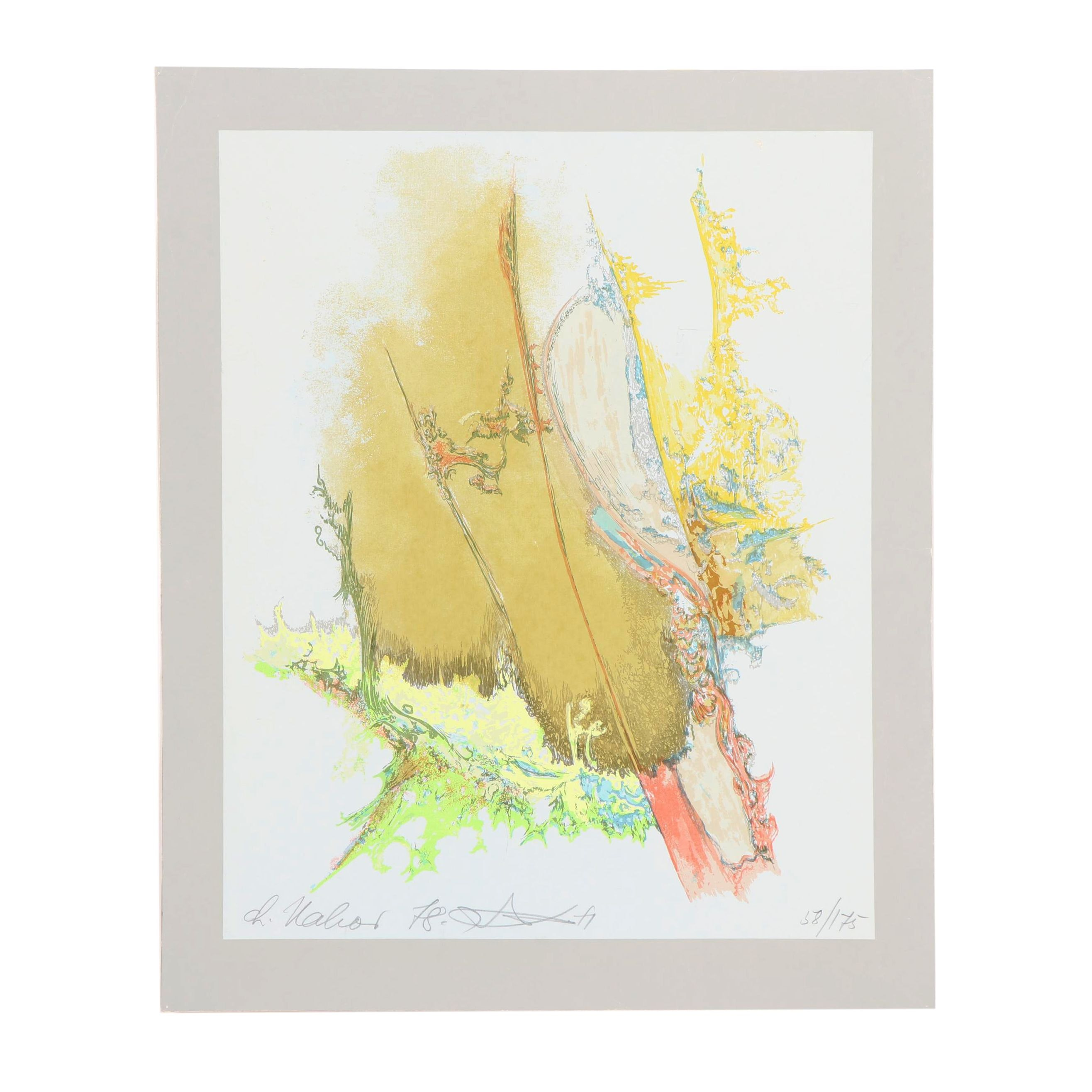 Chaim Nahor Abstract Serigraph
