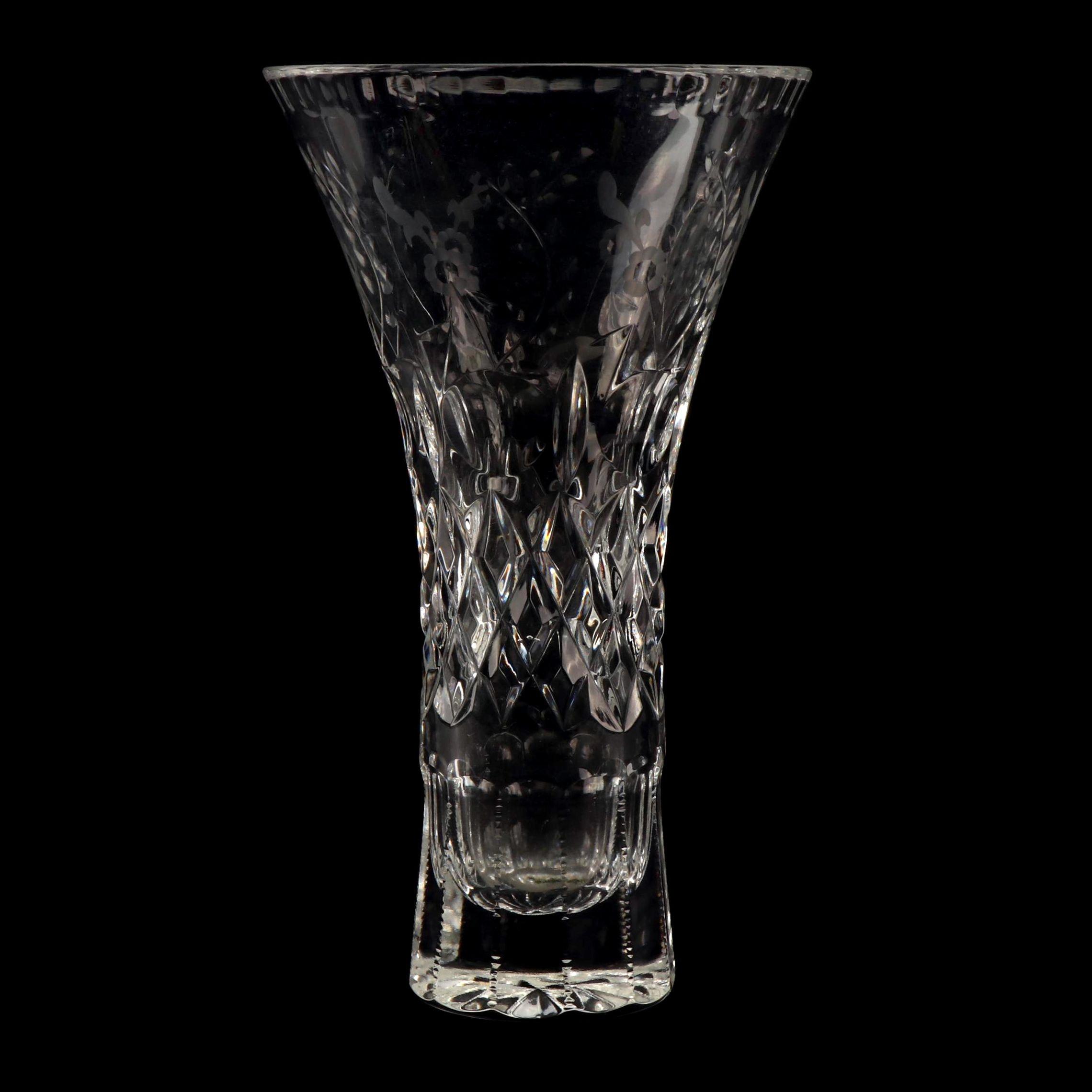 Rogaska Etched Crystal Bud Vase