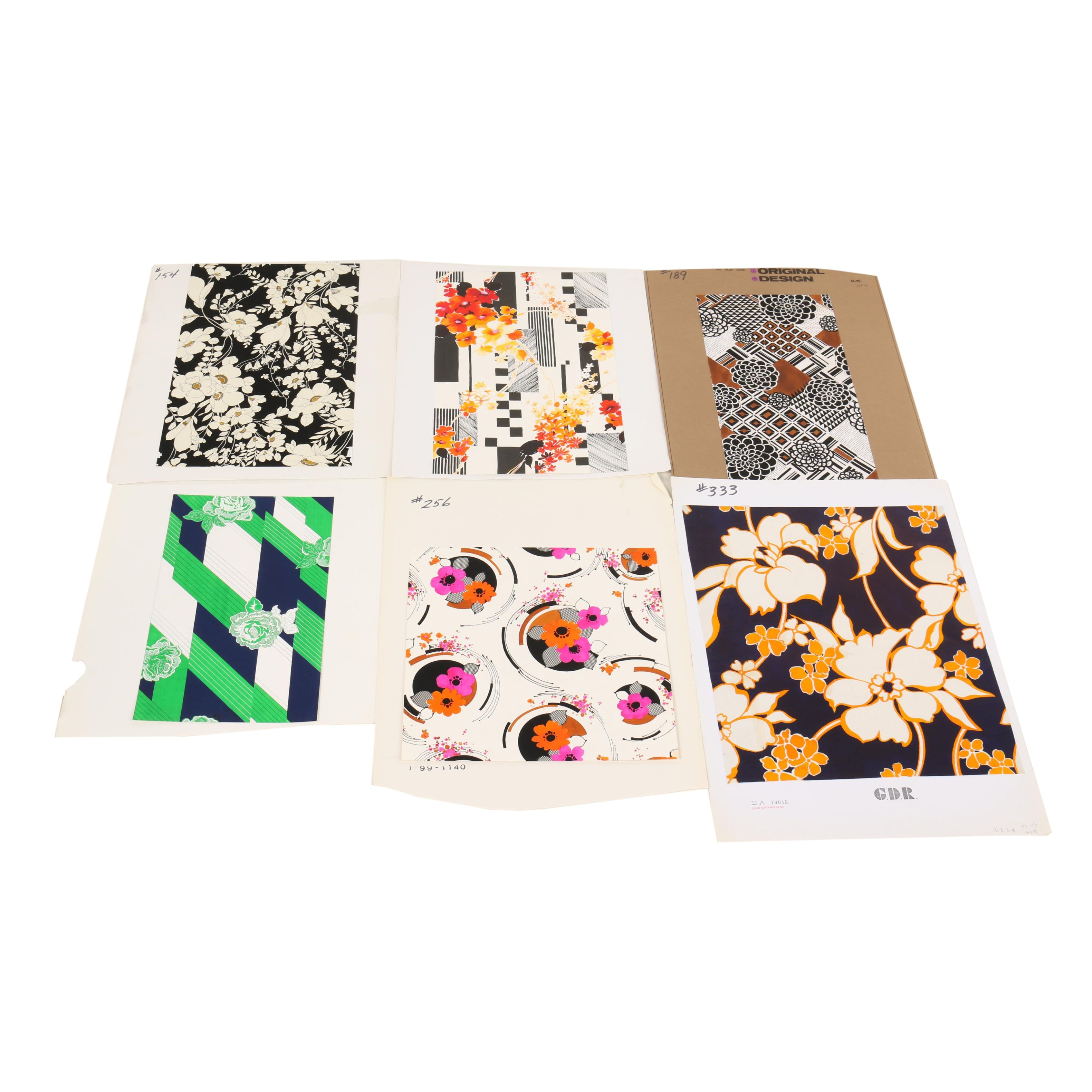 Daido-Maruta and Other Japanese Painted Textile Pattern Designs