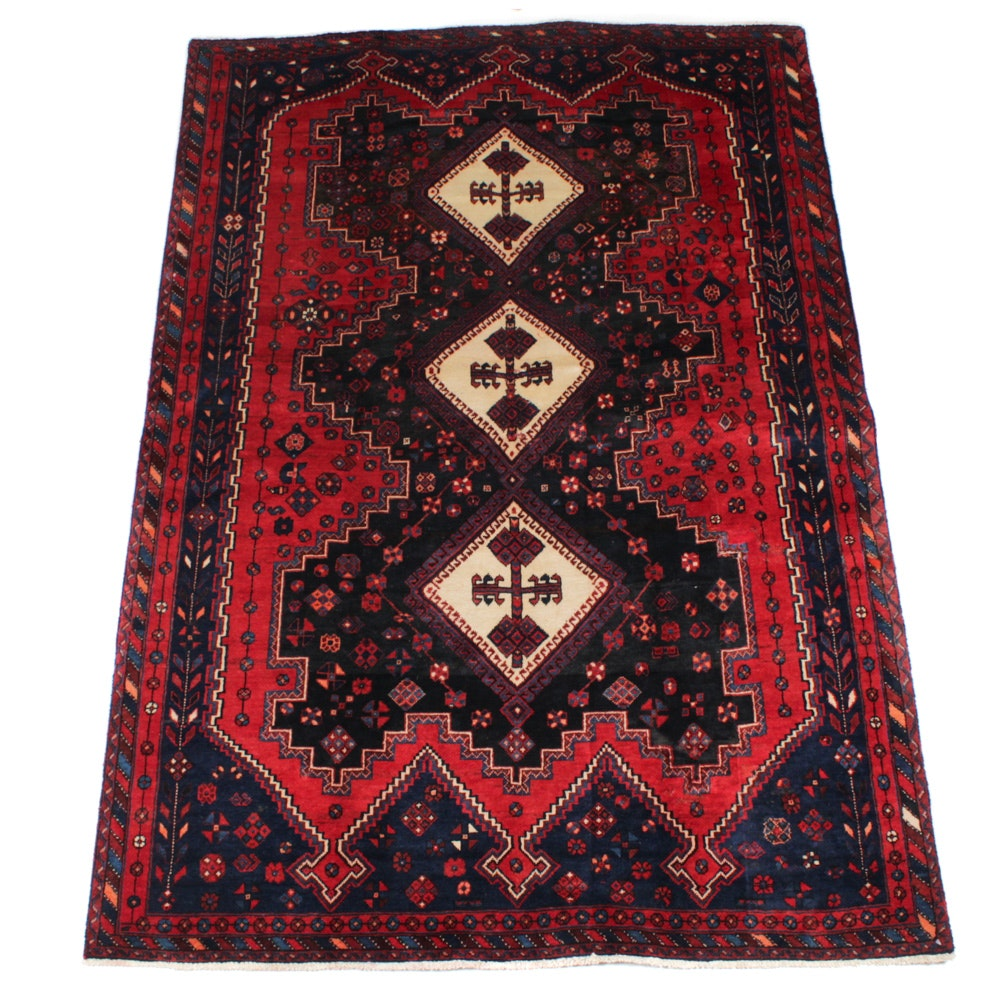 Hand-Knotted Persian Afshar Rug