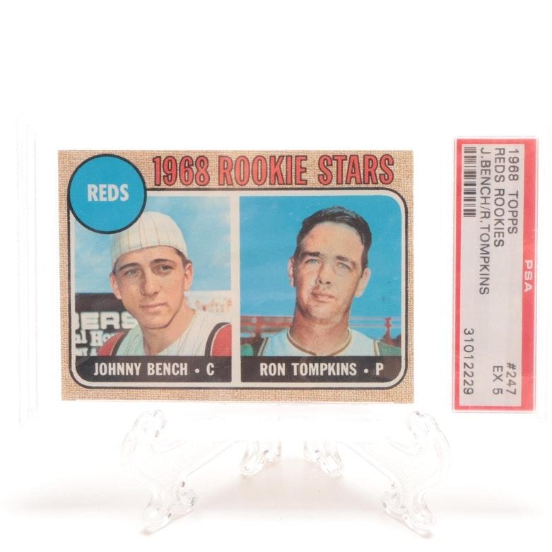 1968 Johnny Bench Cincinnati Reds PSA Graded Topps Rookie Card