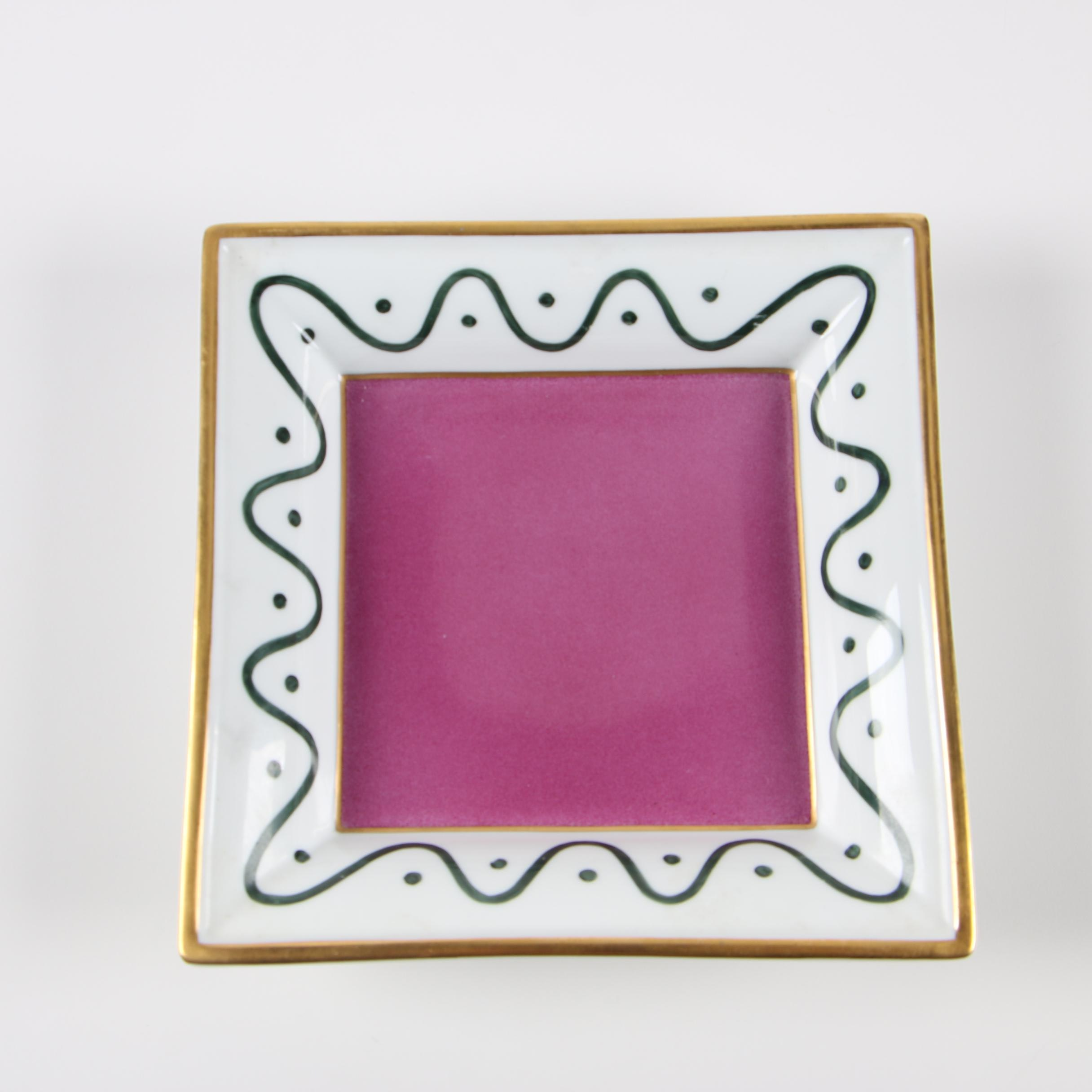 Limoges Hand-Painted Porcelain Dish