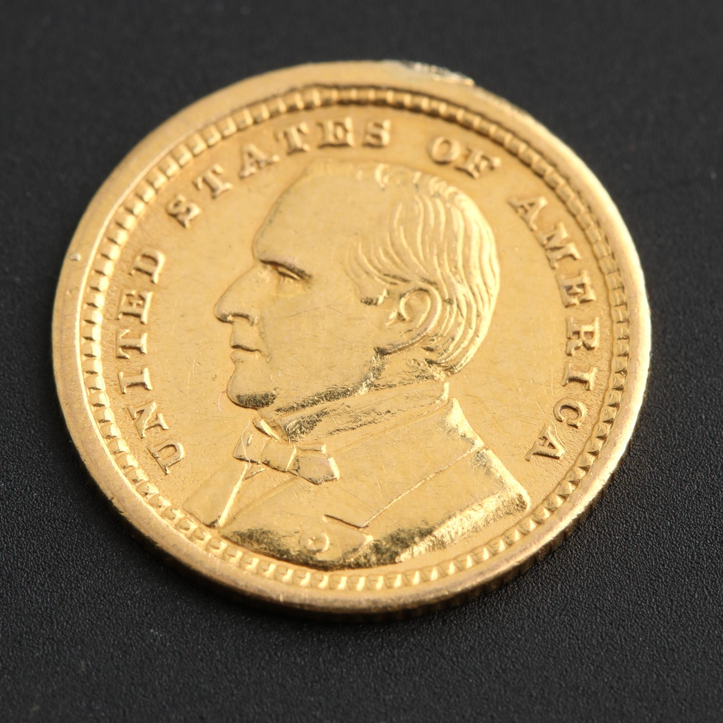 1903 Louisiana Purchase, McKinley Obverse $1 Gold Commemorative Coin