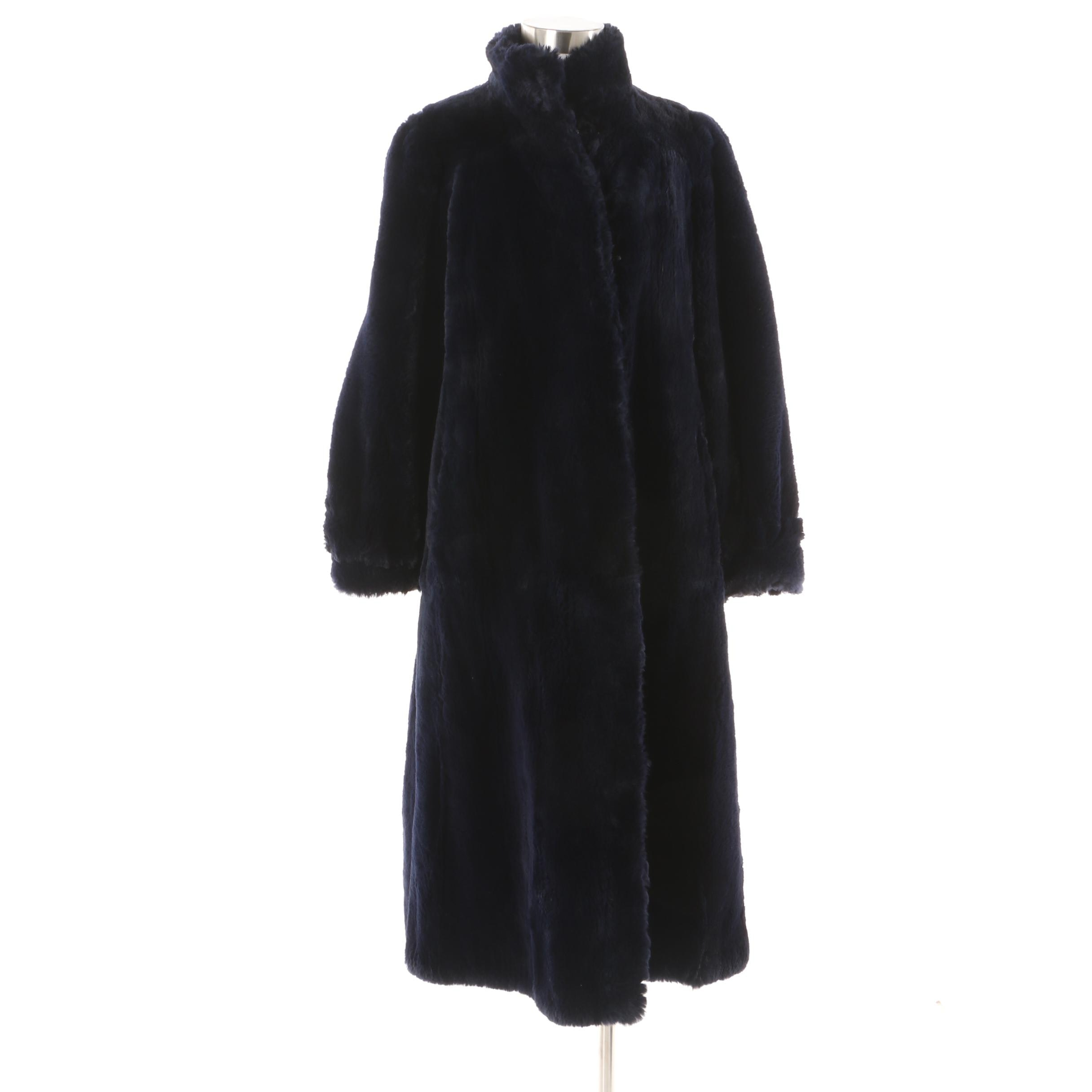 Women's Vintage S. Garber Furs Chicago Dyed Sheared Beaver Fur Coat