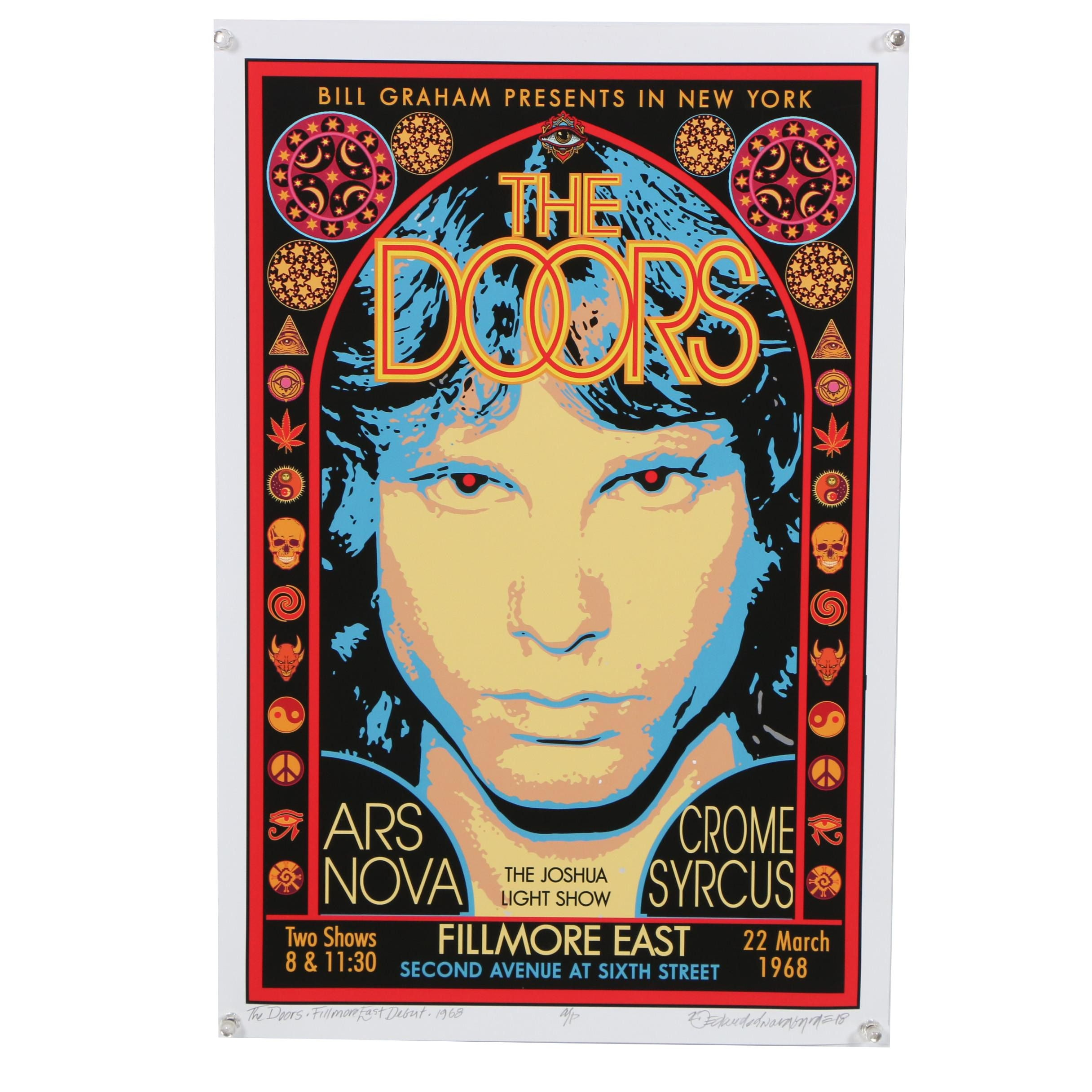 "David Edward Byrd Giclée ""The Doors - Fillmore East -1968"""