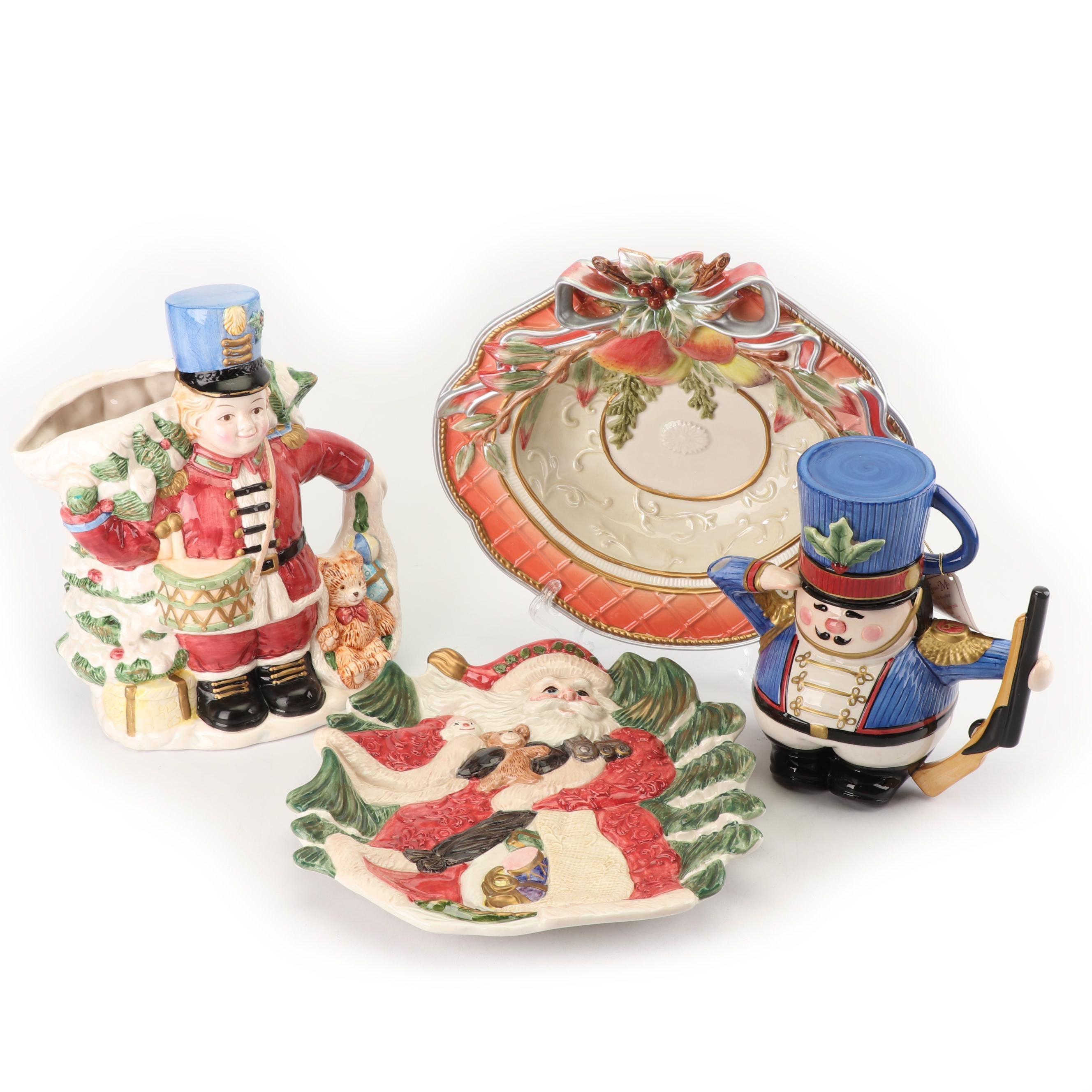 Fitz and Floyd Ceramic Holiday Serveware