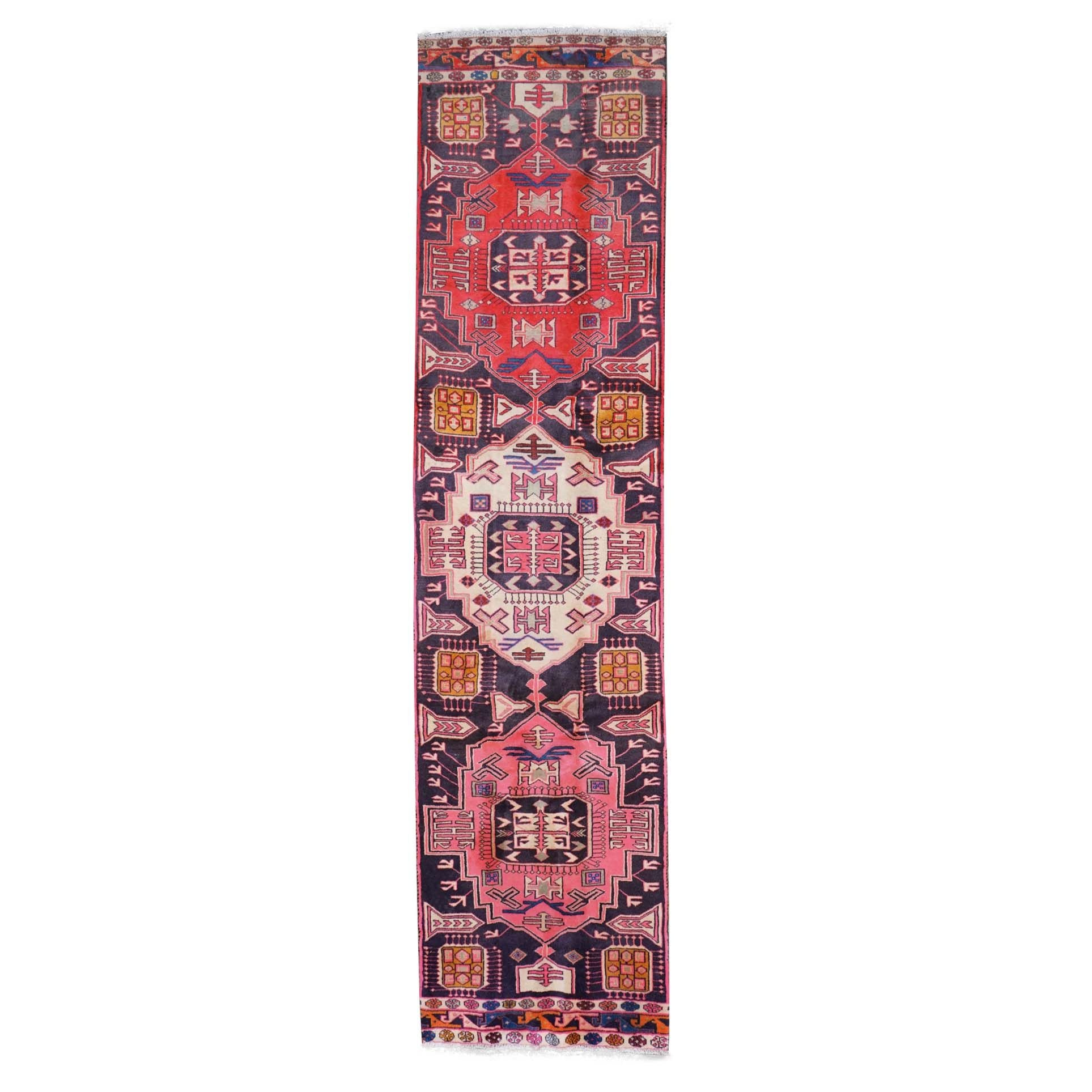 Hand-Knotted Caucasian Shirvan Wool Runner