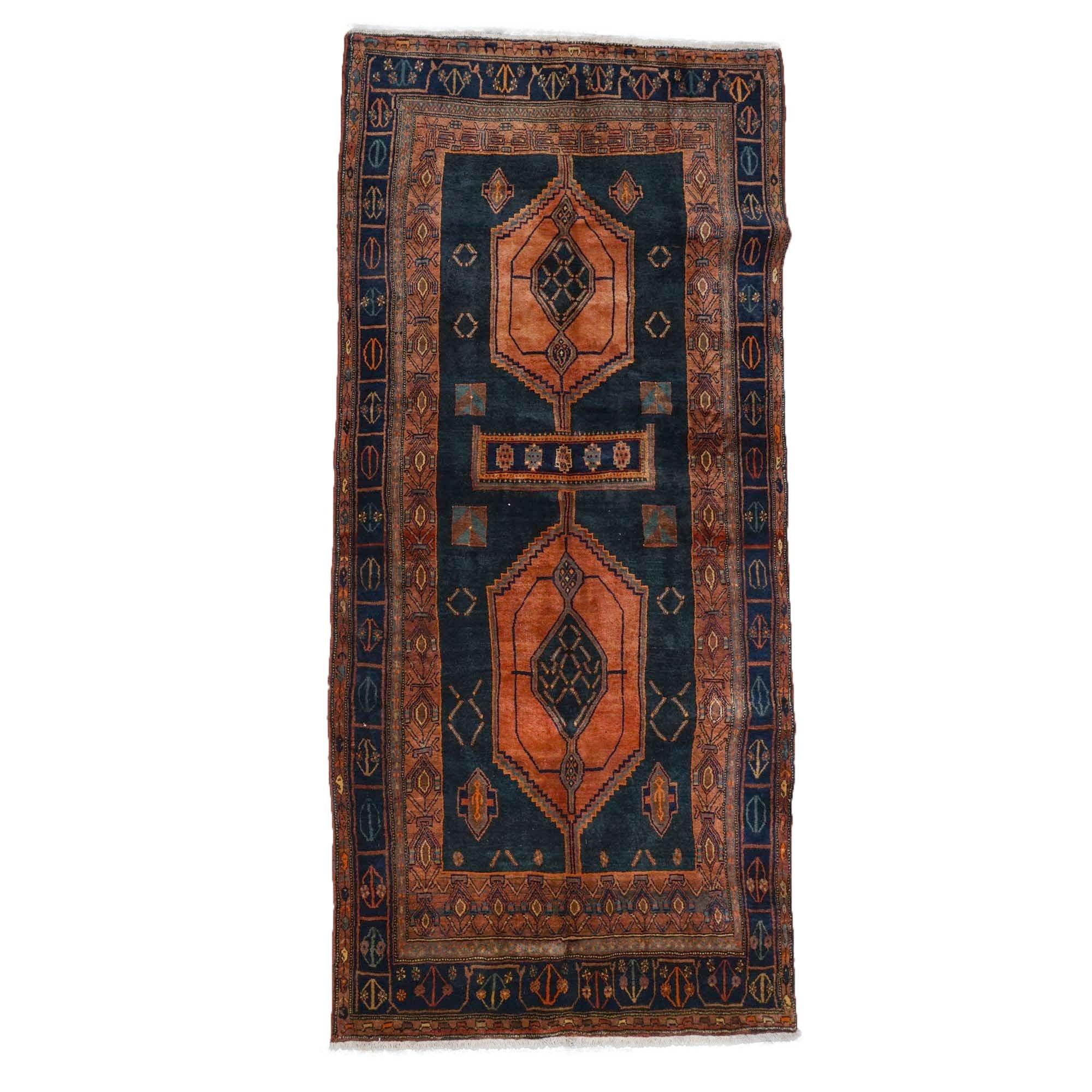 Hand-Knotted Kurdish Kolyai Wool Long Rug