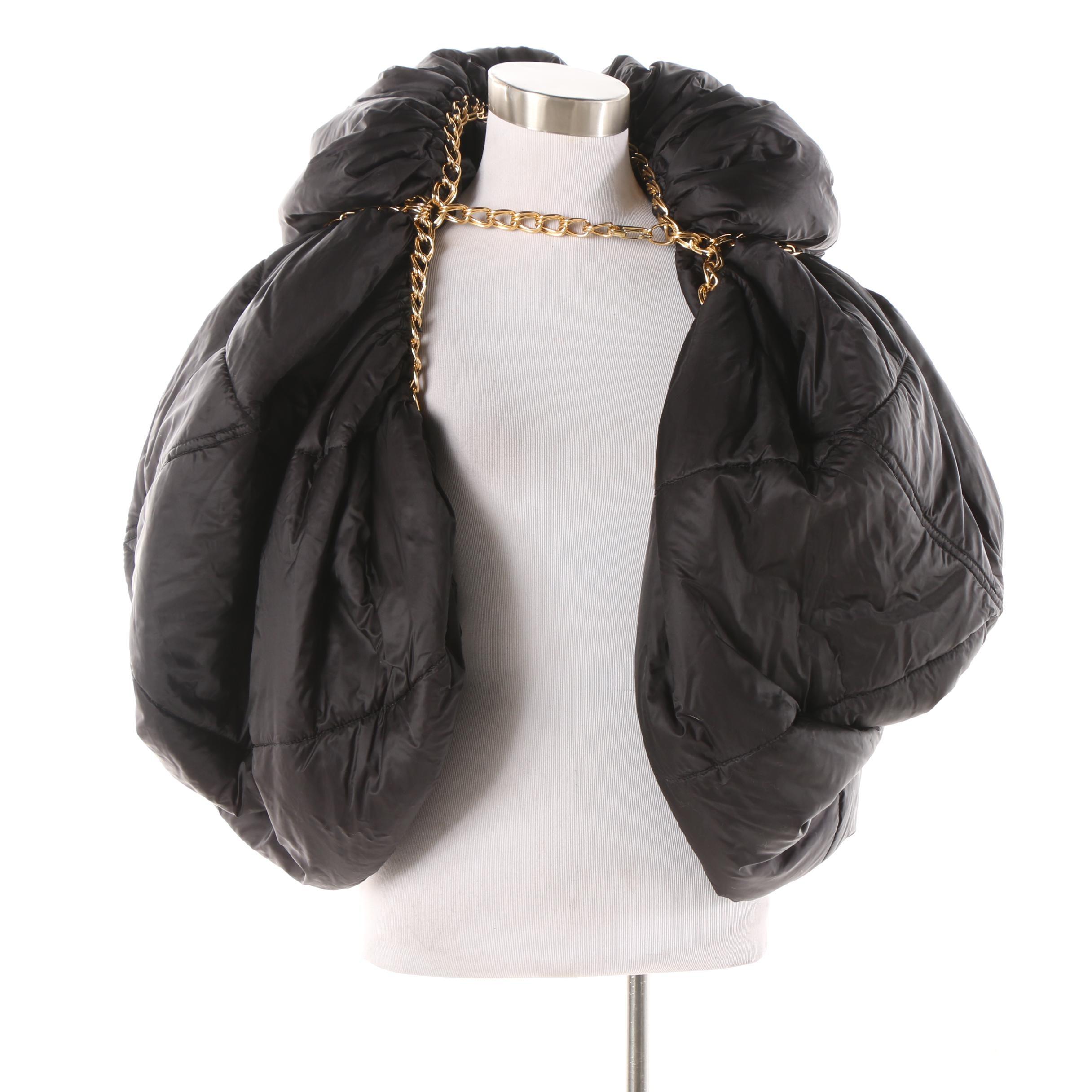 2009 Junya Watanabe Comme des Garçons Runway Black Puffer Vest with Chains