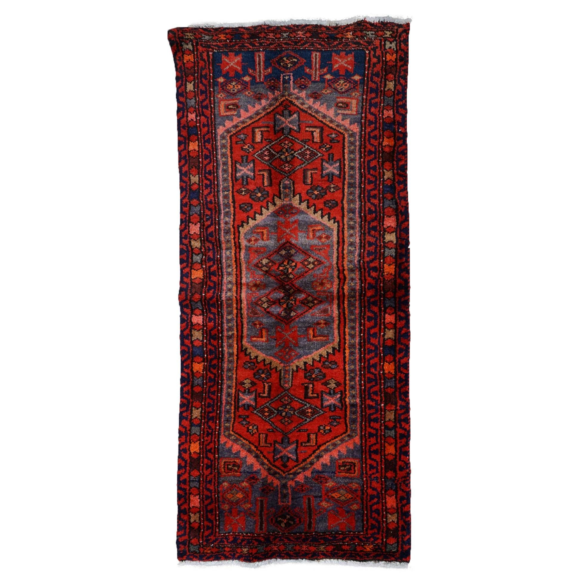 Hand-Knotted Persian Zenjan Wool Rug
