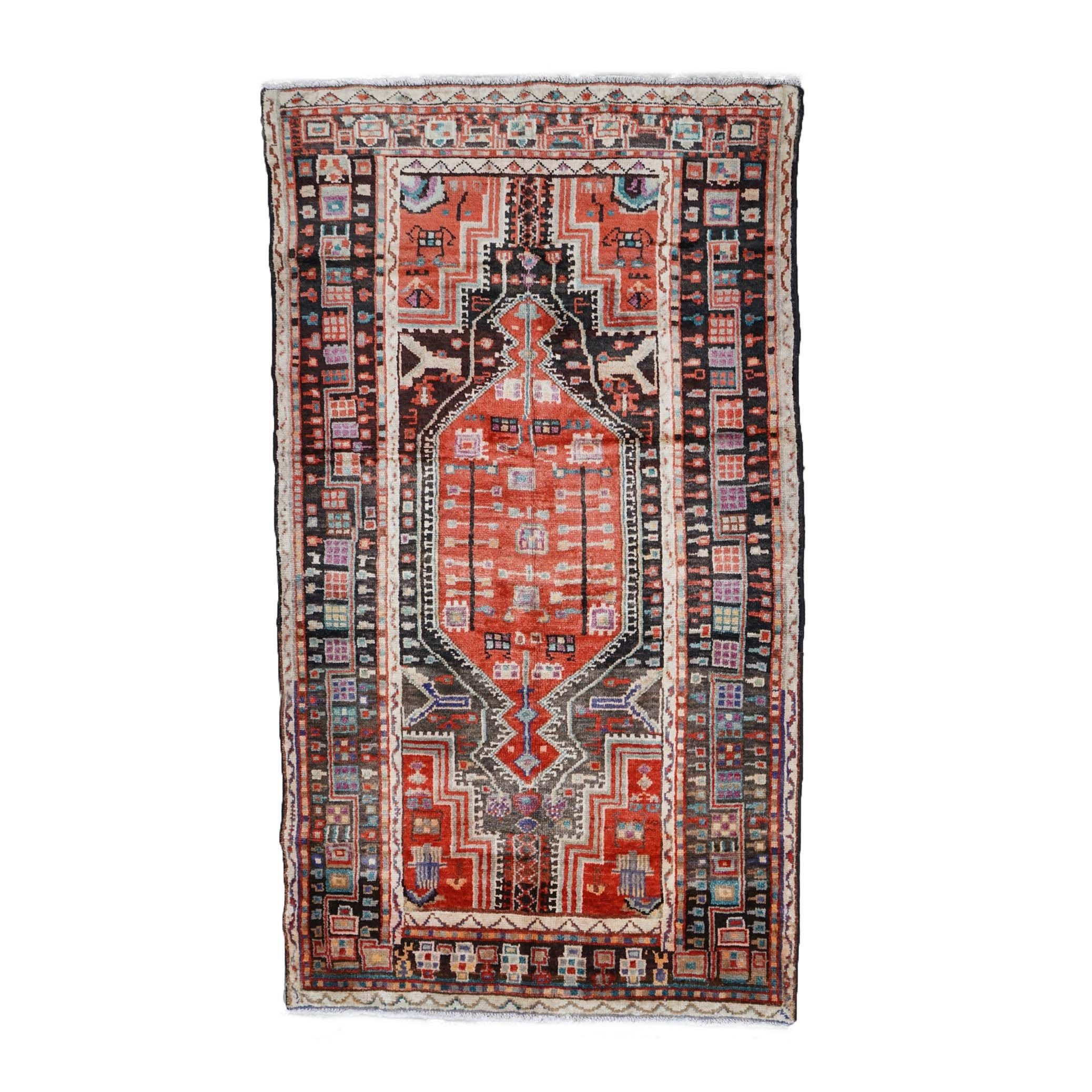 Hand-Knotted Persian Tuisarkan Wool Rug