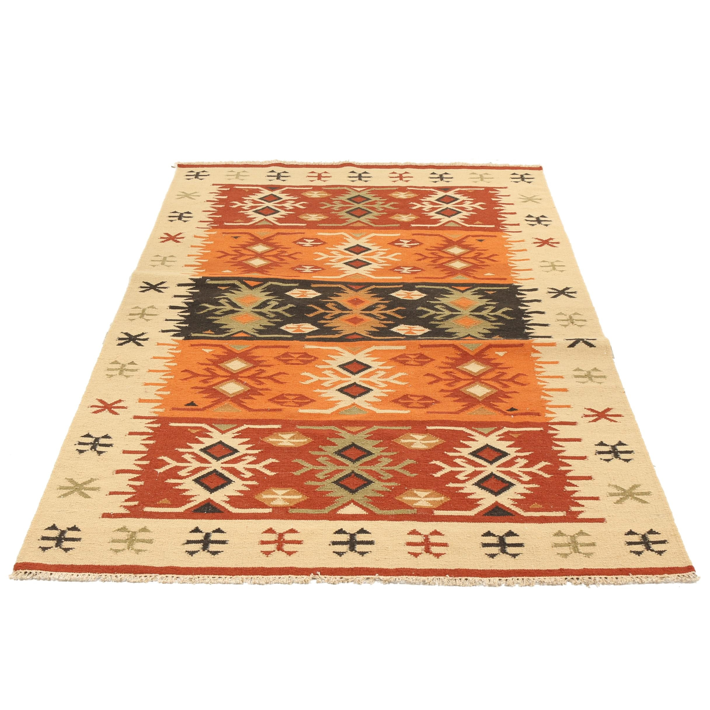 Handwoven Turkish Wool Kilim