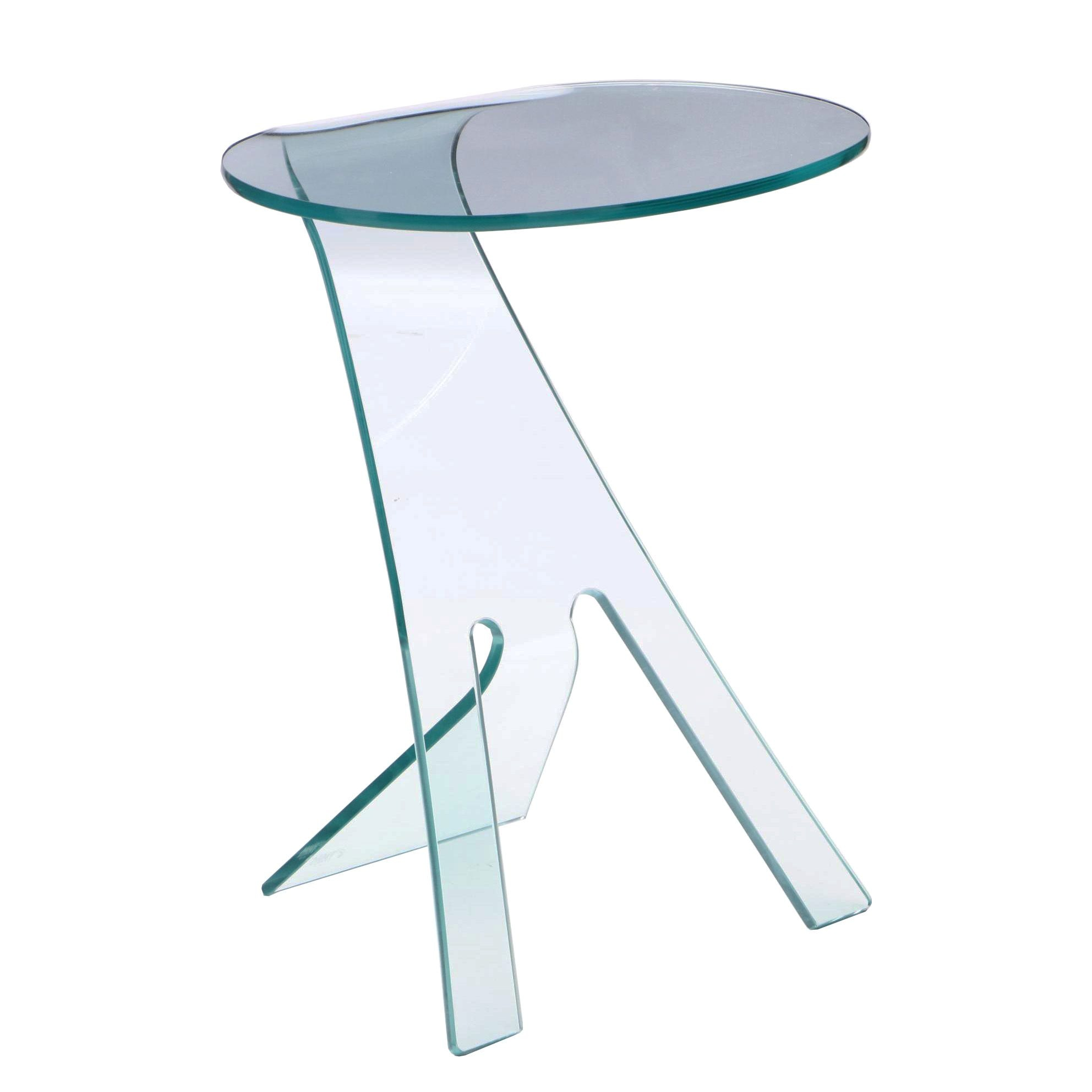 Fiam Tempered Glass Accent Table