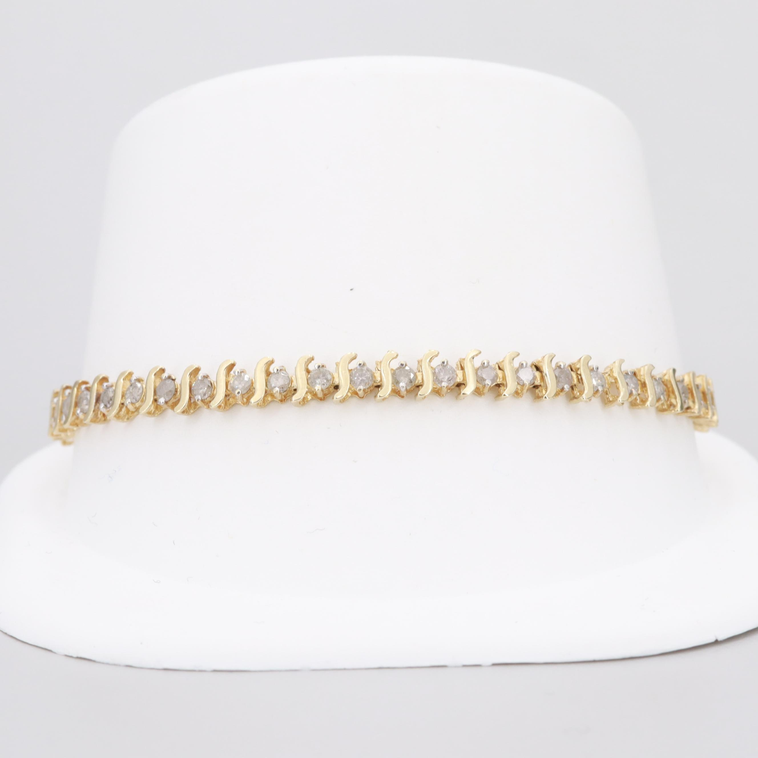10K Yellow Gold 1.99 CTW Diamond Bracelet
