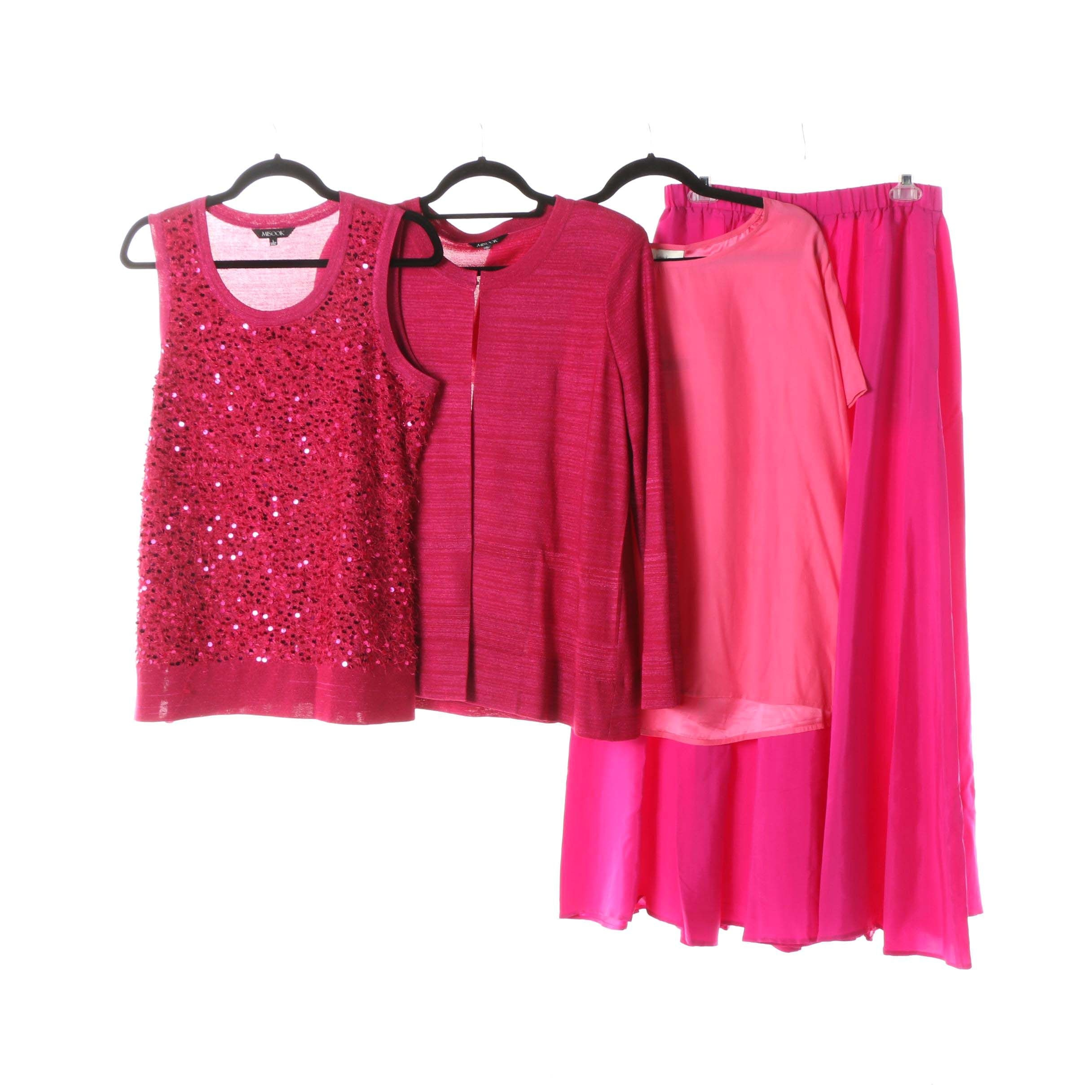 Women's Misook and Neiman Marcus Exclusive Tops and Skirt in Shades of Pink