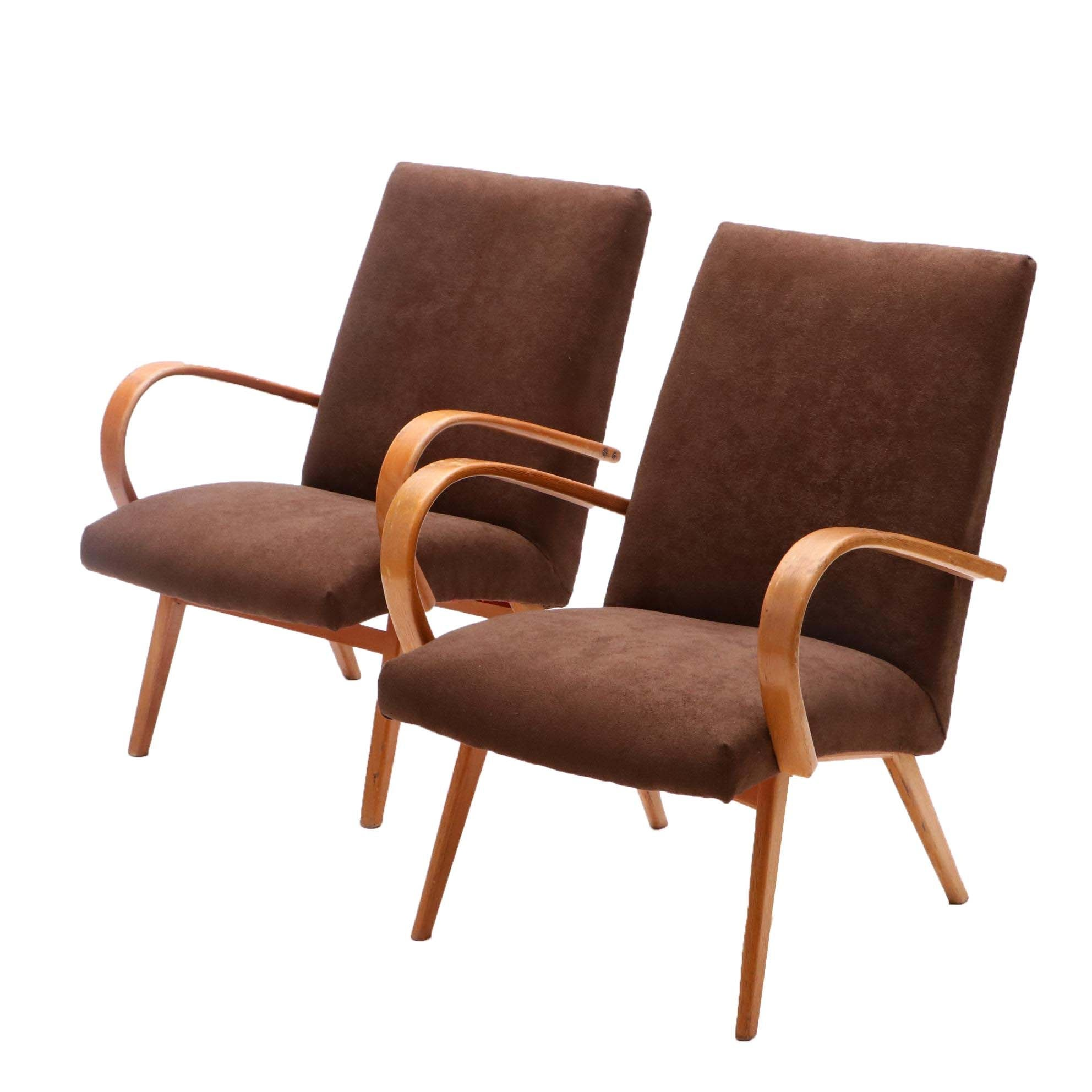 Pair of Mid Century Modern Bentwood Chairs