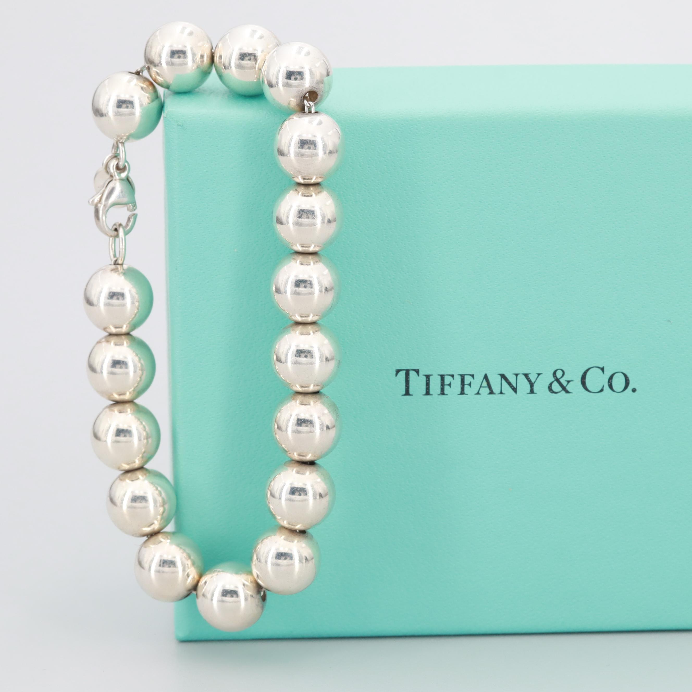Tiffany & Co. Sterling Silver Beaded Bracelet