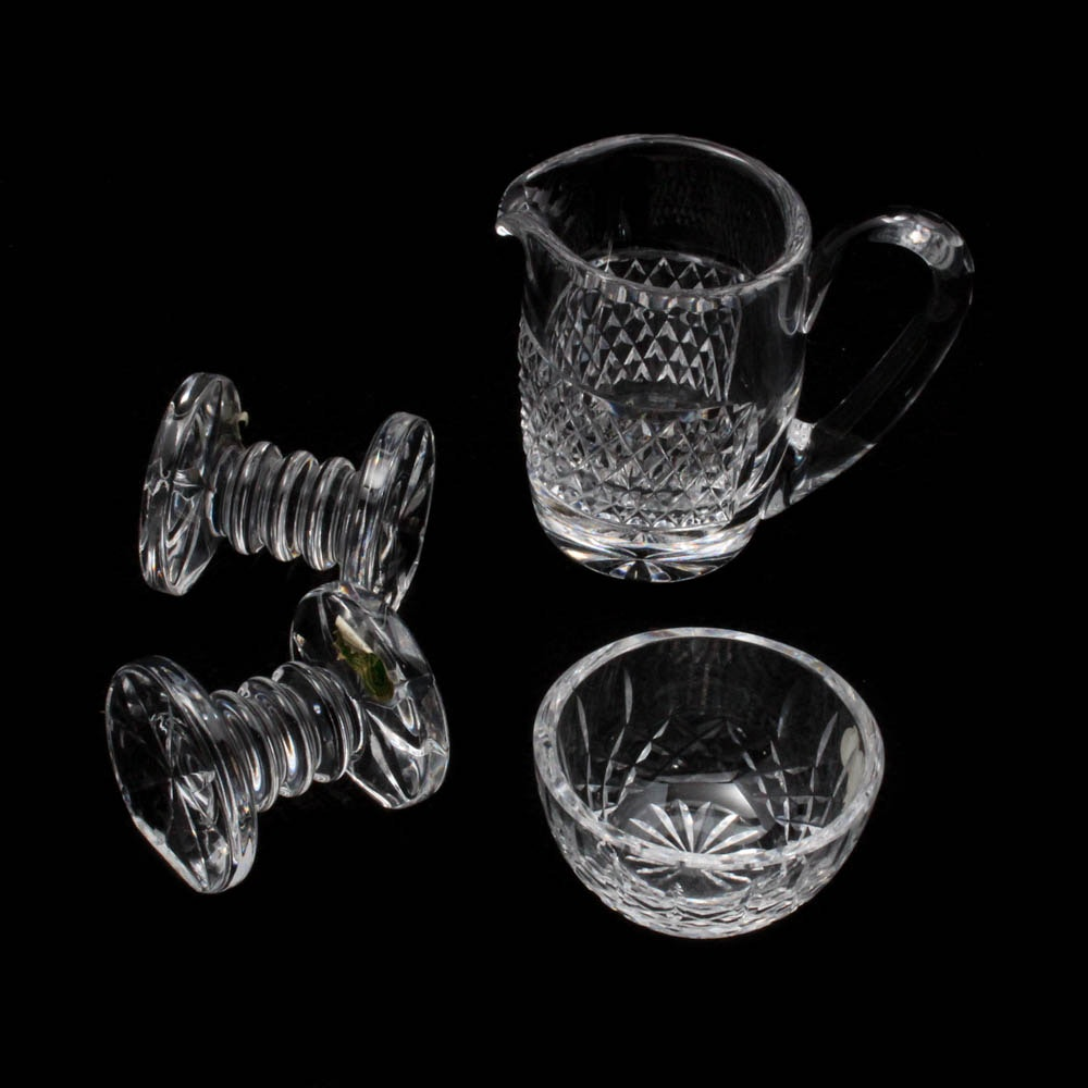 Waterford Crystal Creamer, Finger Bowl and Knife Rests