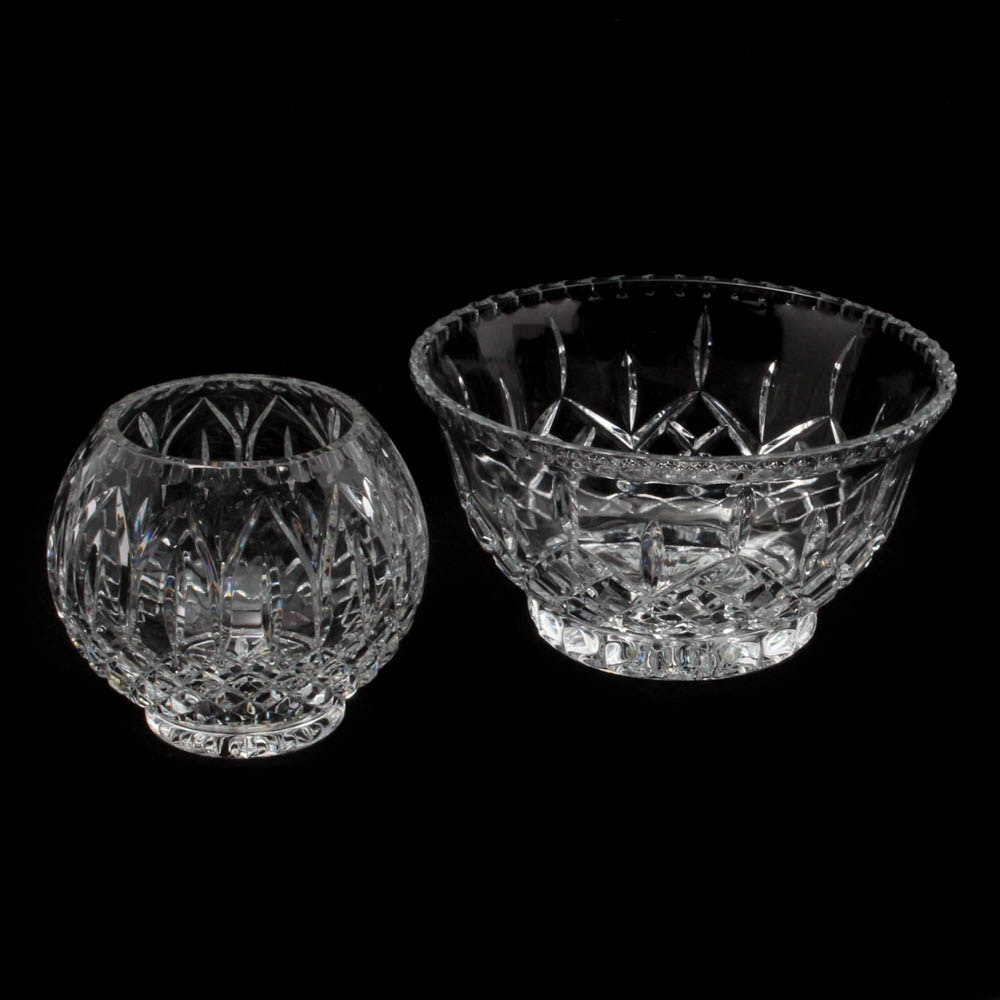 """Crystal Footed Bowls Featuring Gorham """"King Edward"""""""