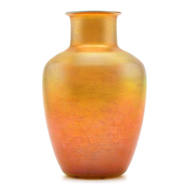 Tiffany Studios Favrile Glass Vase, Circa 1900