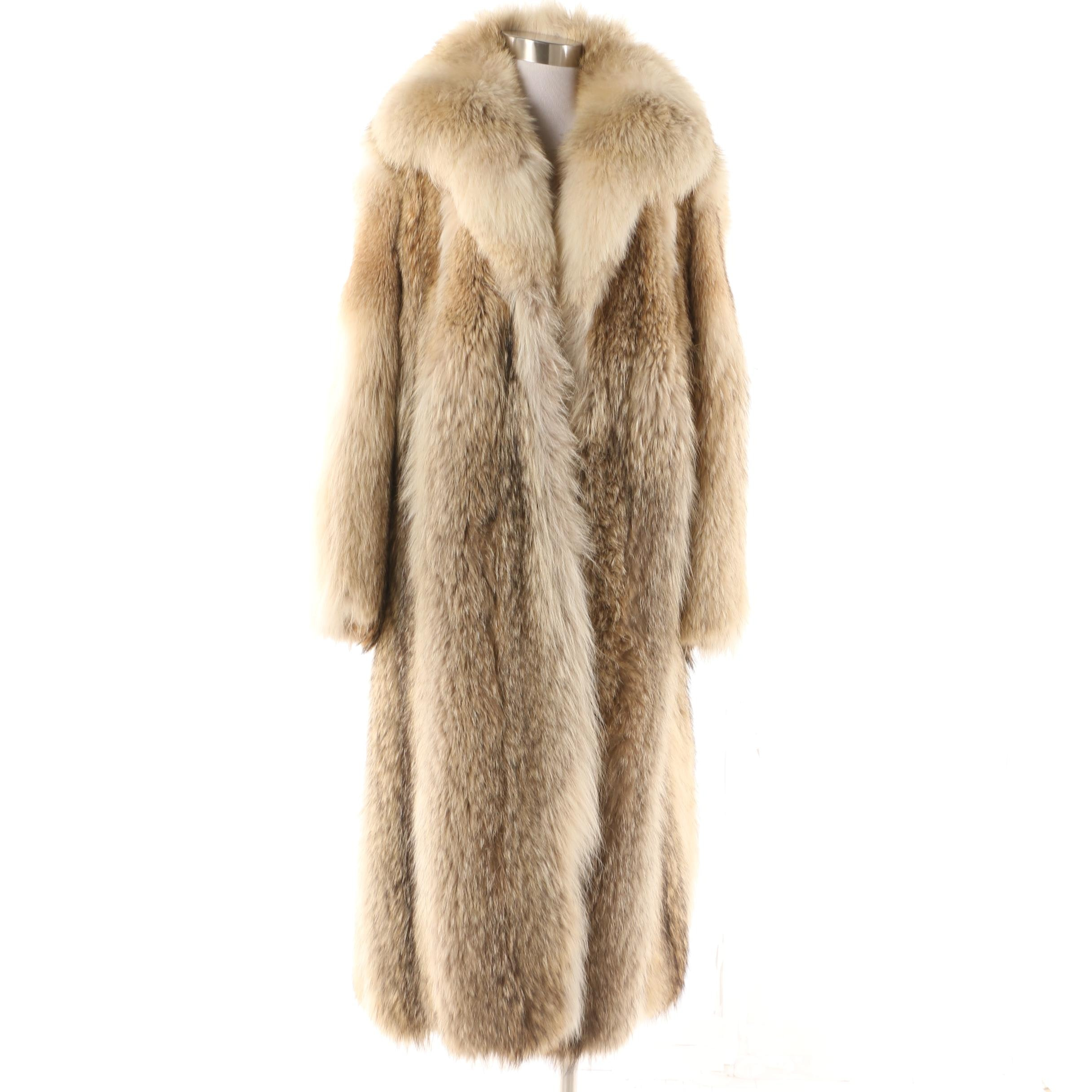 Women's Vintage Furs by Arnold Coyote Fur Coat