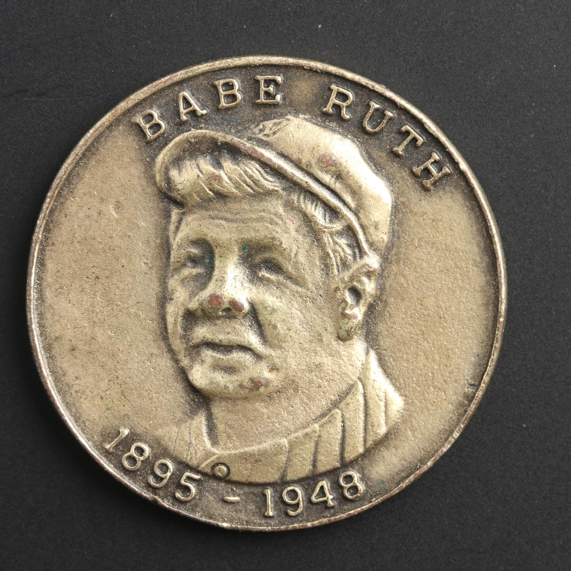 Babe Ruth Commemorative Brass Token