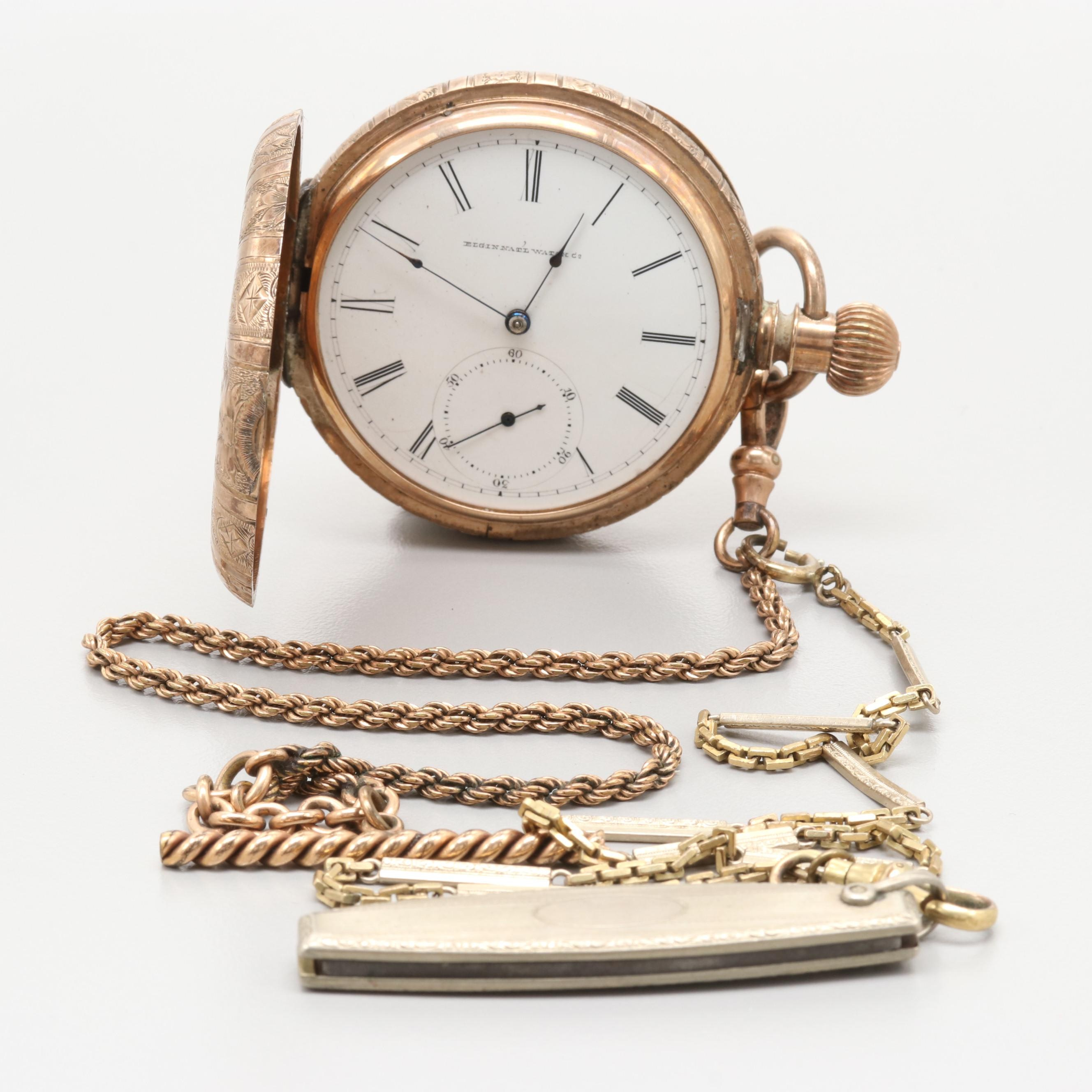Elgin Hunter Case Pocket Watch, 1882