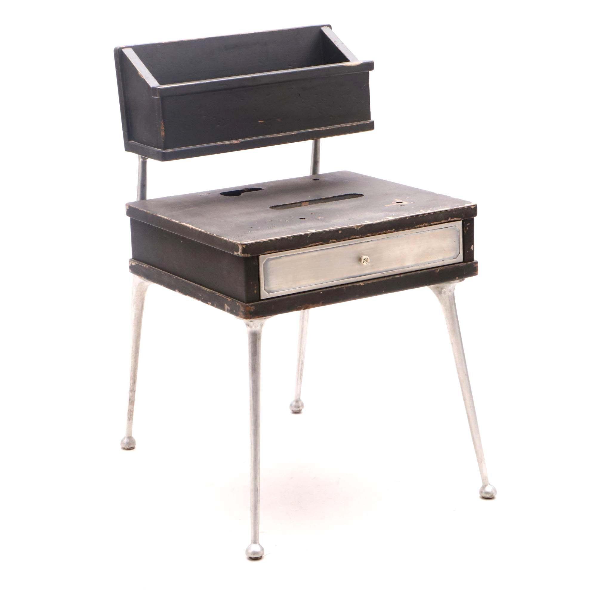 Vintage Repurposed NCR Cash Register Base End Table