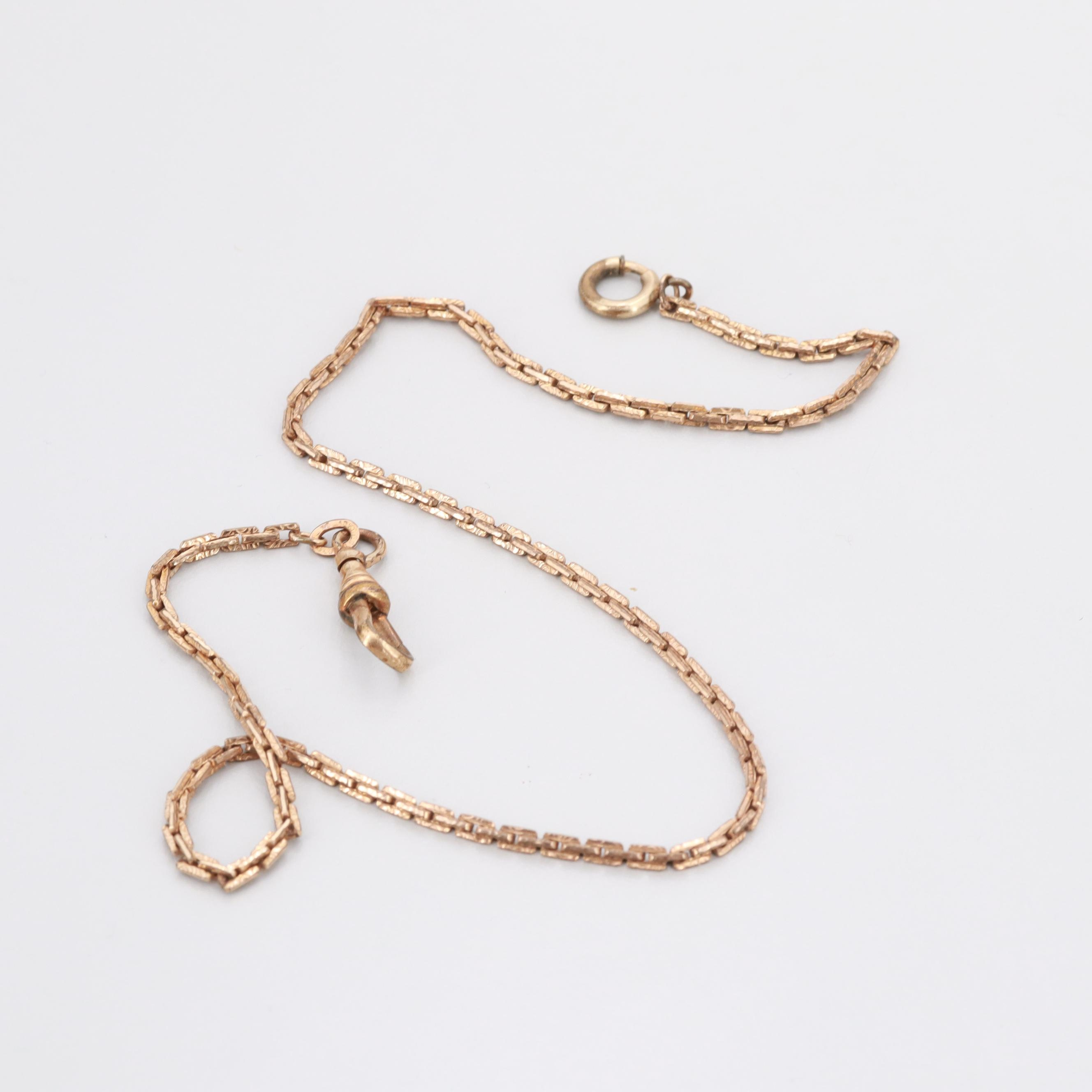 Gold Filled Watch Fob Chain