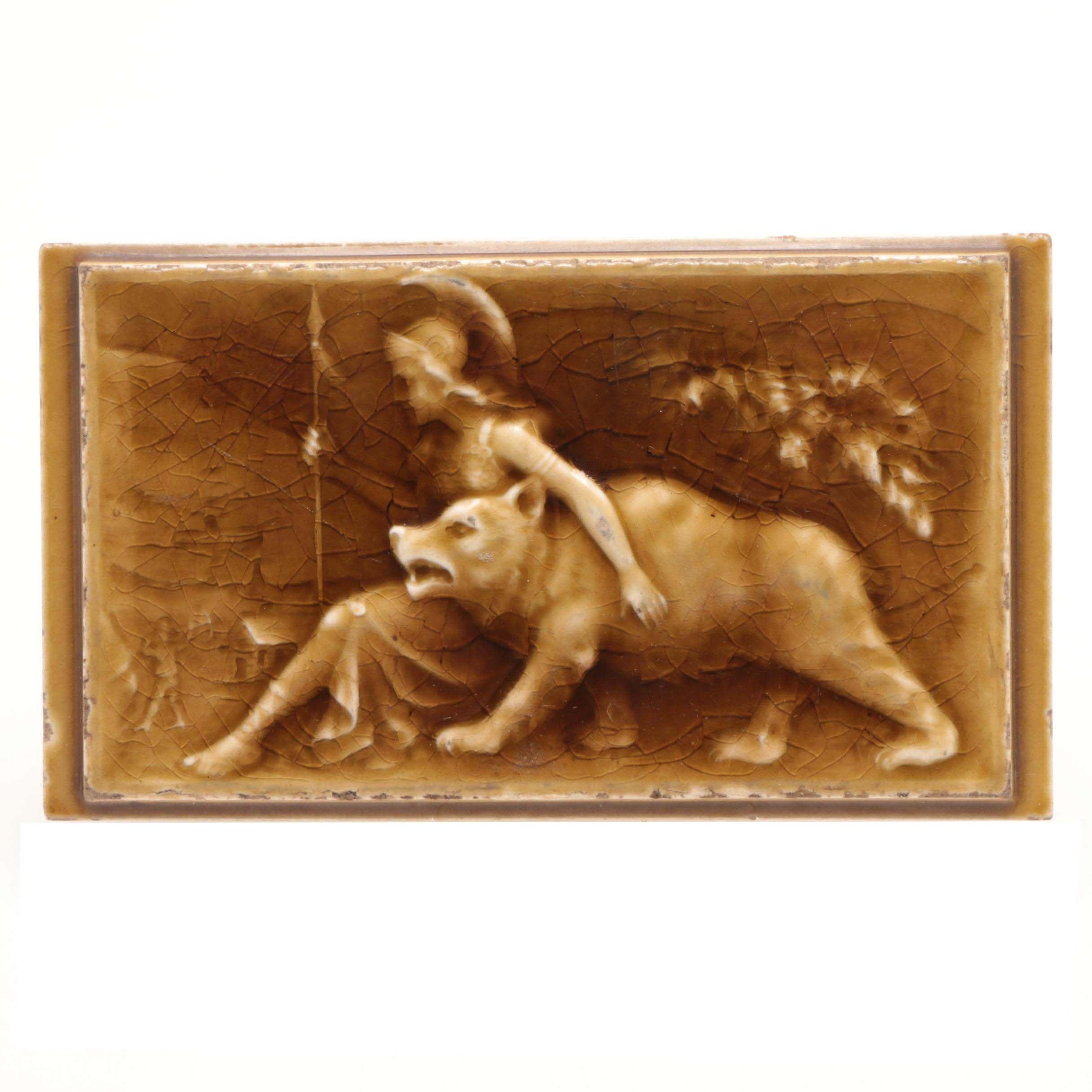 Antique Art Pottery Tile