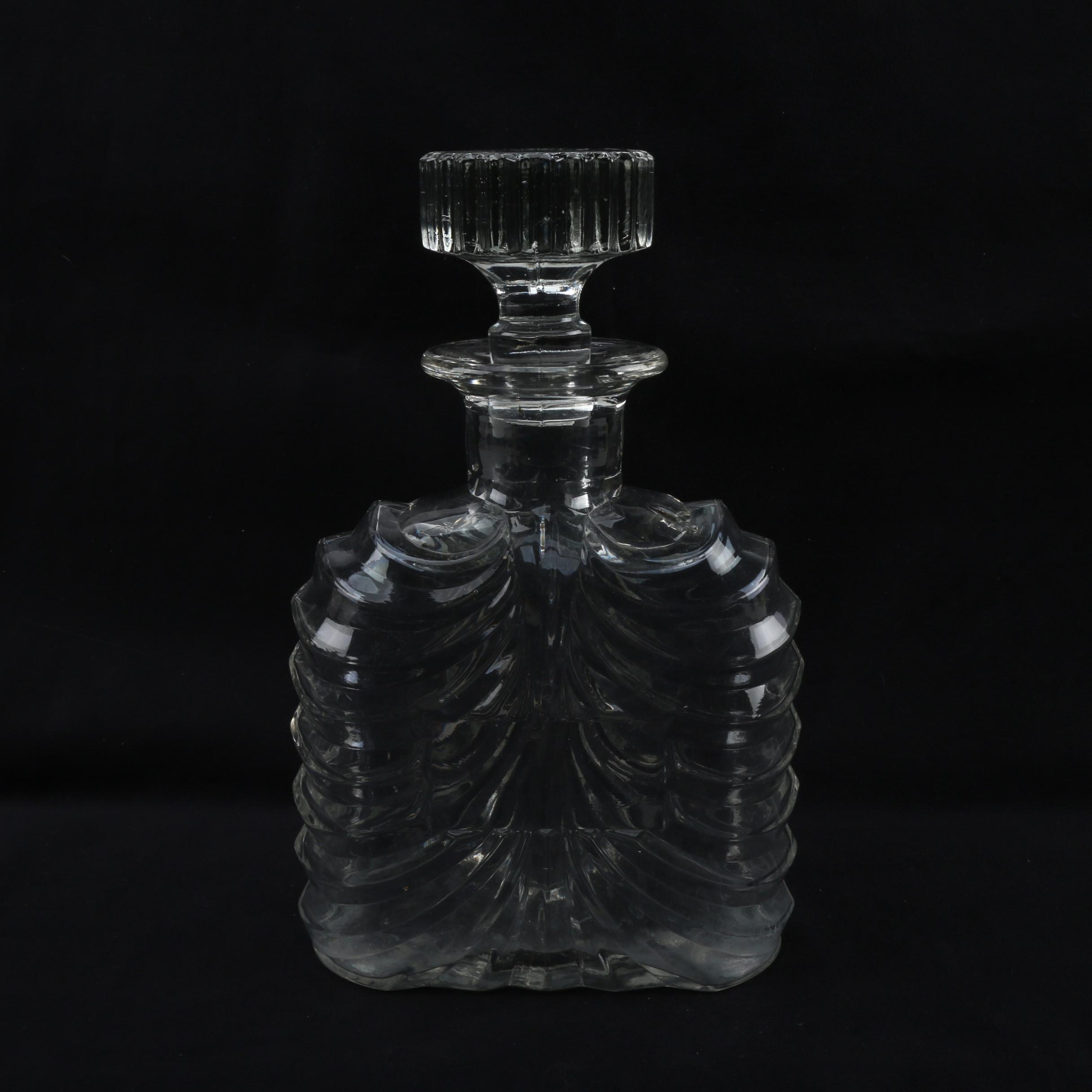 Pressed Glass Decanter