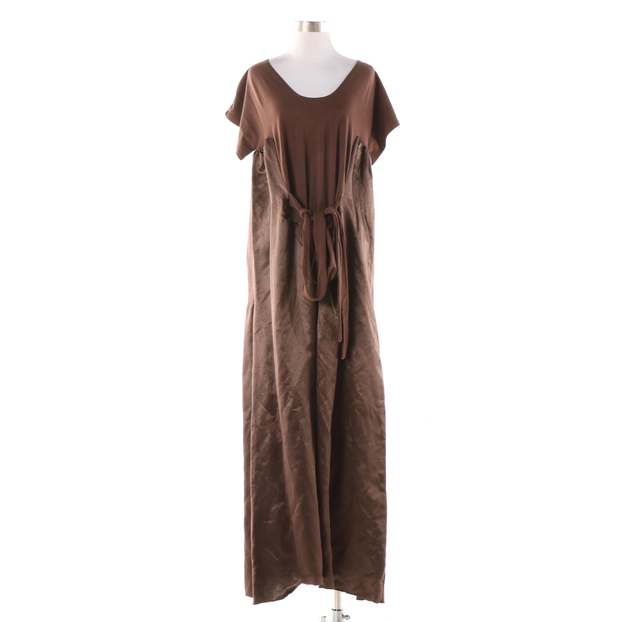 Lara Miller Brown Silk Blend Maxi Dress