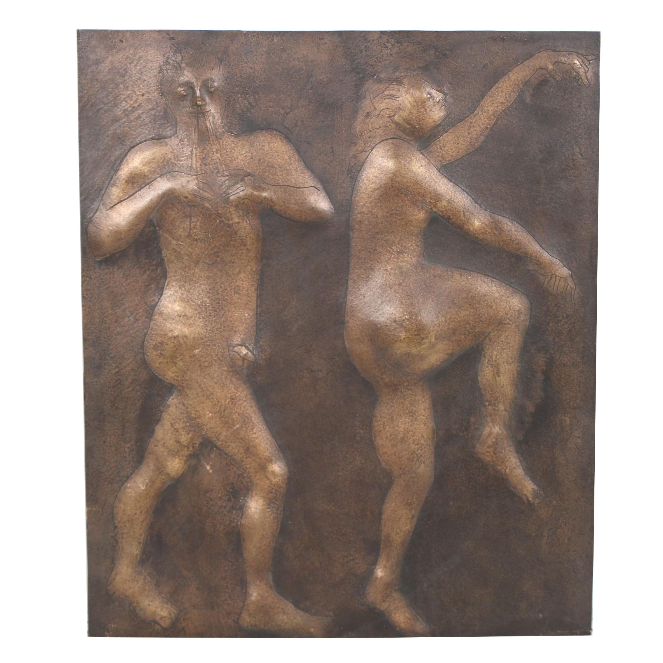 John Tuska Cast Bronze Relief